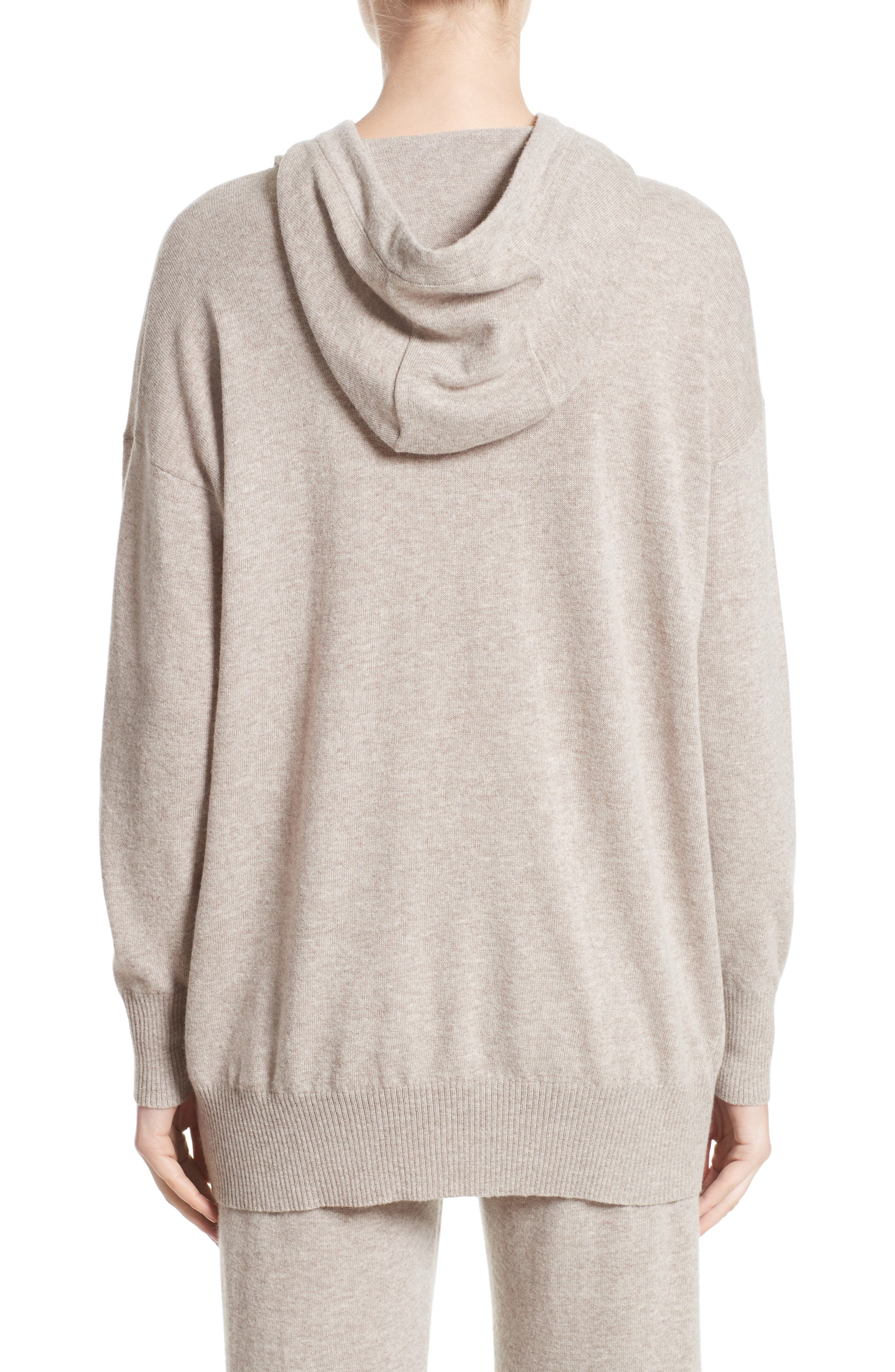 Alternate Image 2  - Max Mara Nitra Wool & Cashmere Hooded Sweater