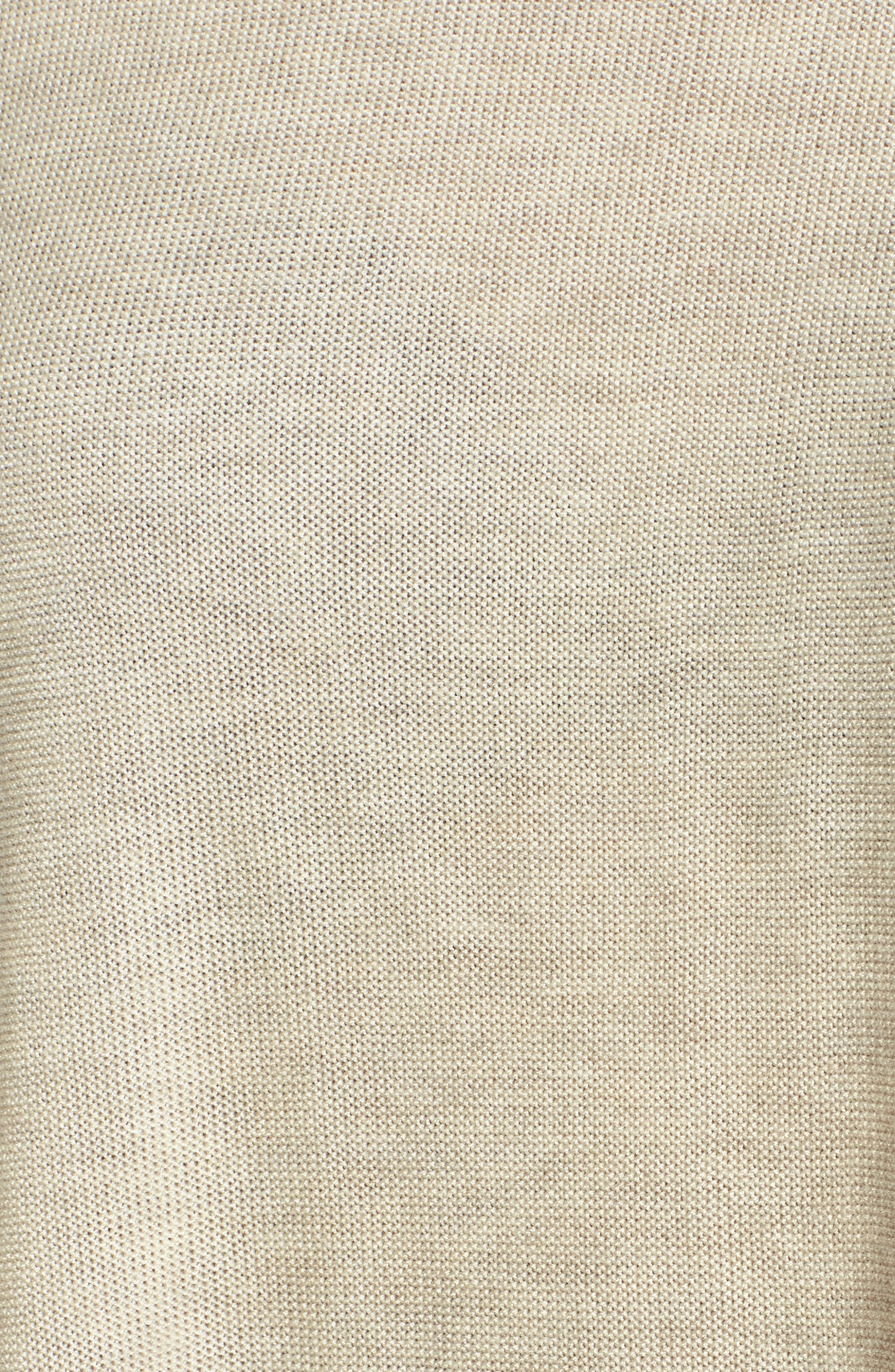 Tencel<sup>®</sup> & Merino Wool Top,                             Alternate thumbnail 5, color,                             Maple Oat