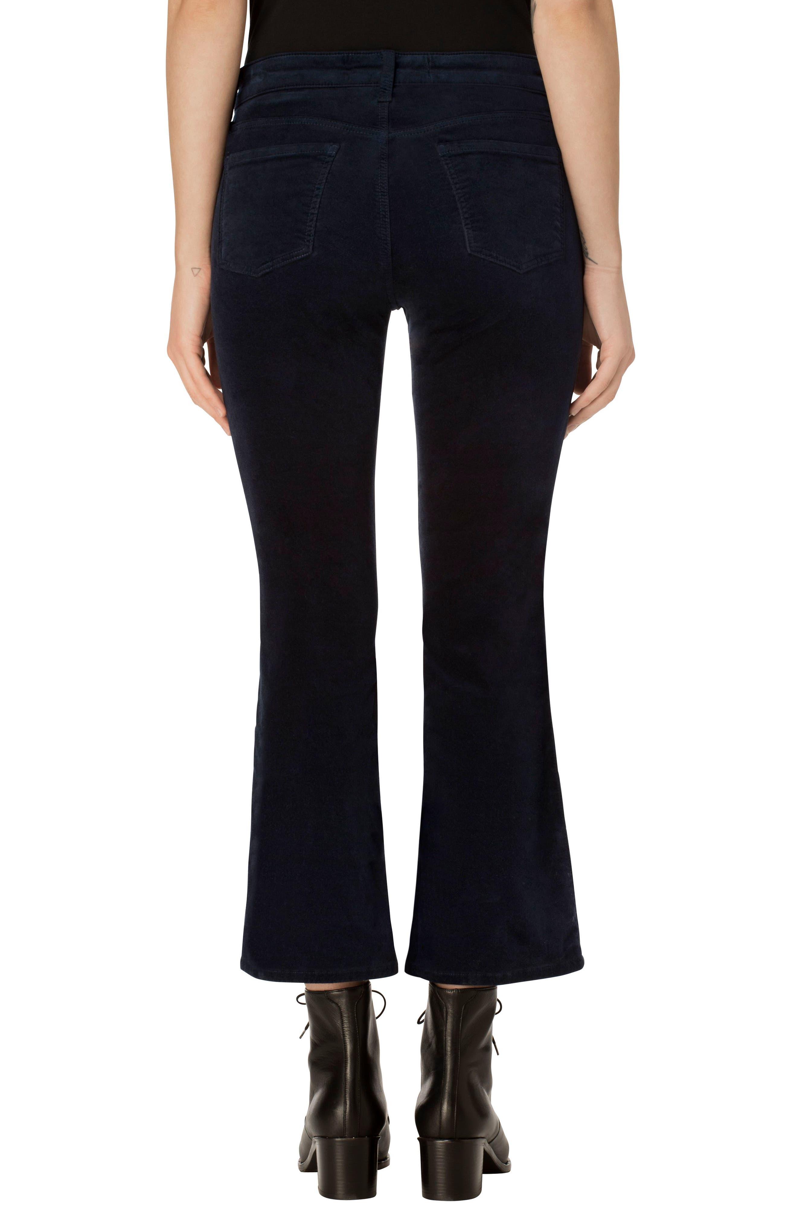 Selena Crop Bootcut Jeans,                             Alternate thumbnail 2, color,                             Dark Iris