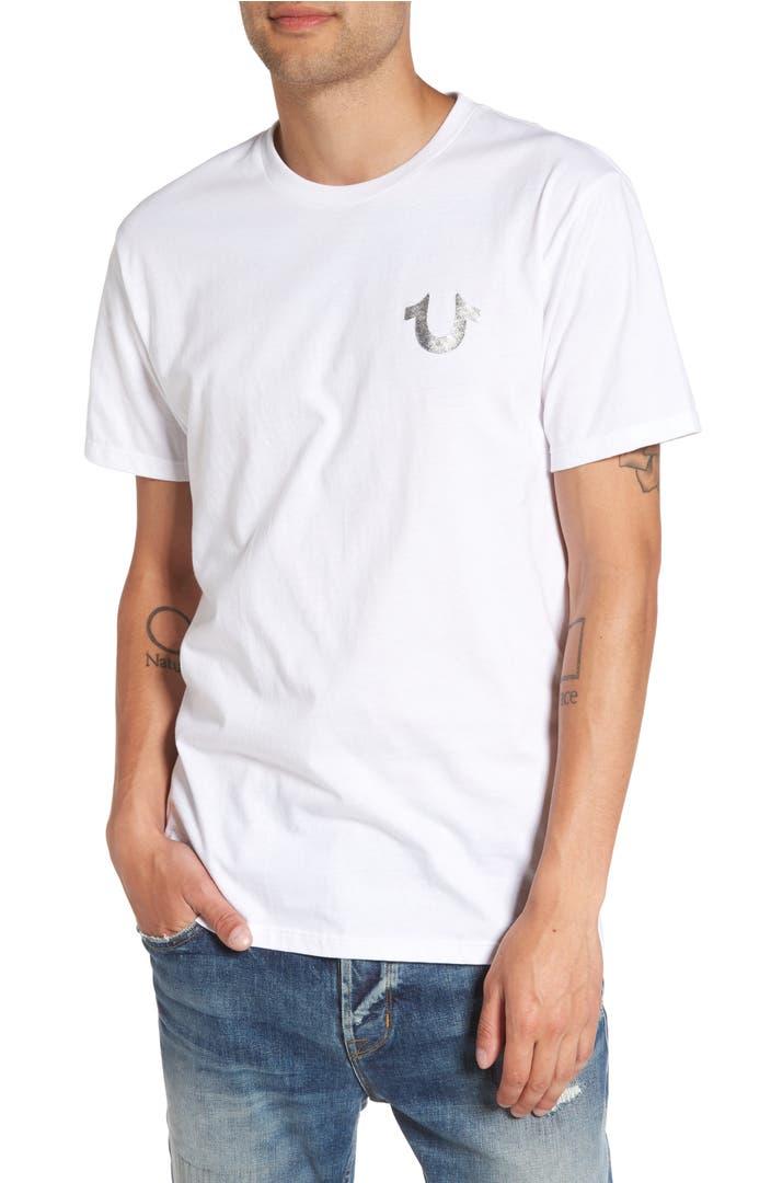 True Religion Silver Buddha T Shirt Nordstrom