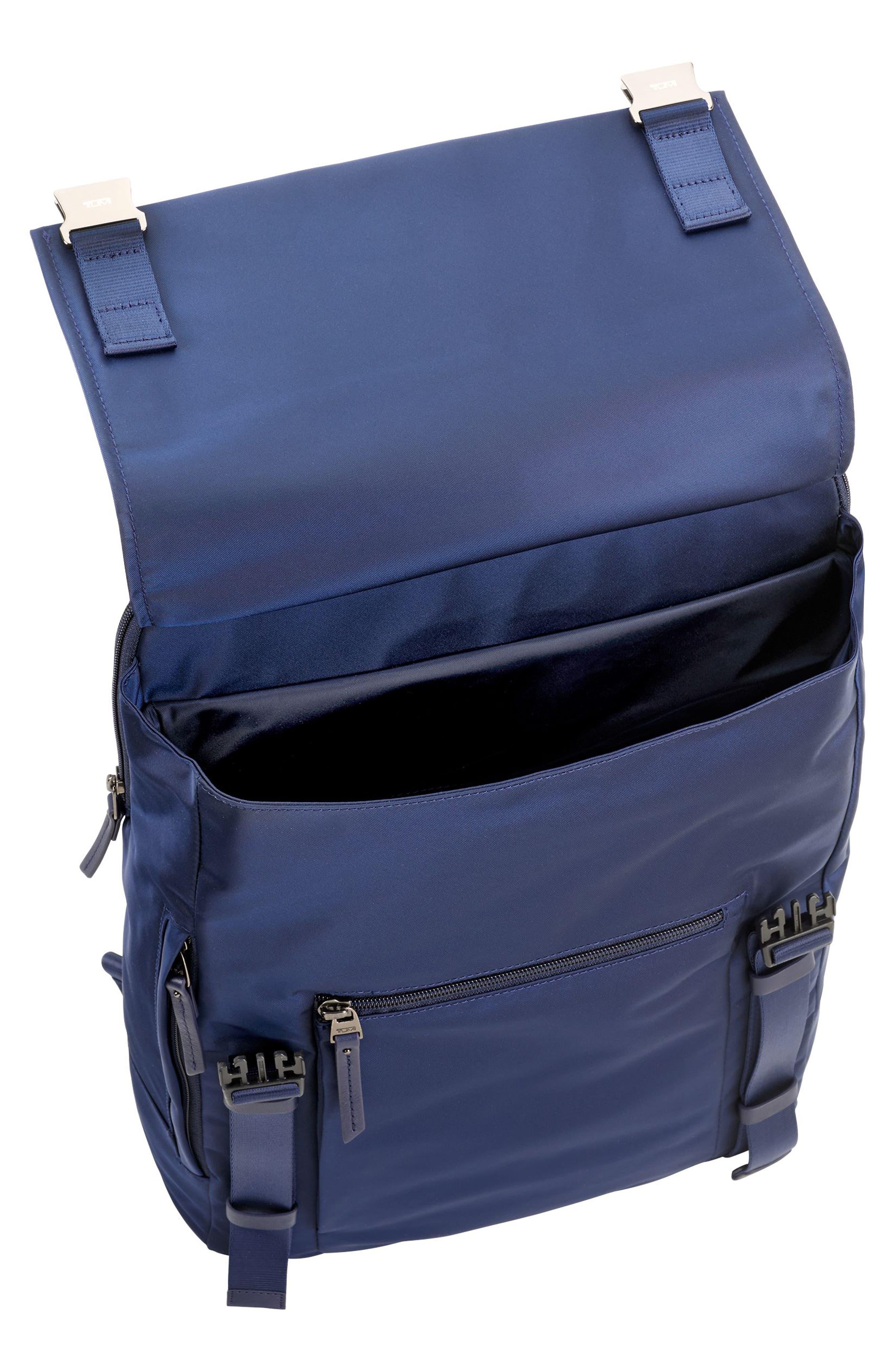 'Voyageur - Sacha' Flap Backpack,                             Alternate thumbnail 2, color,                             Marine