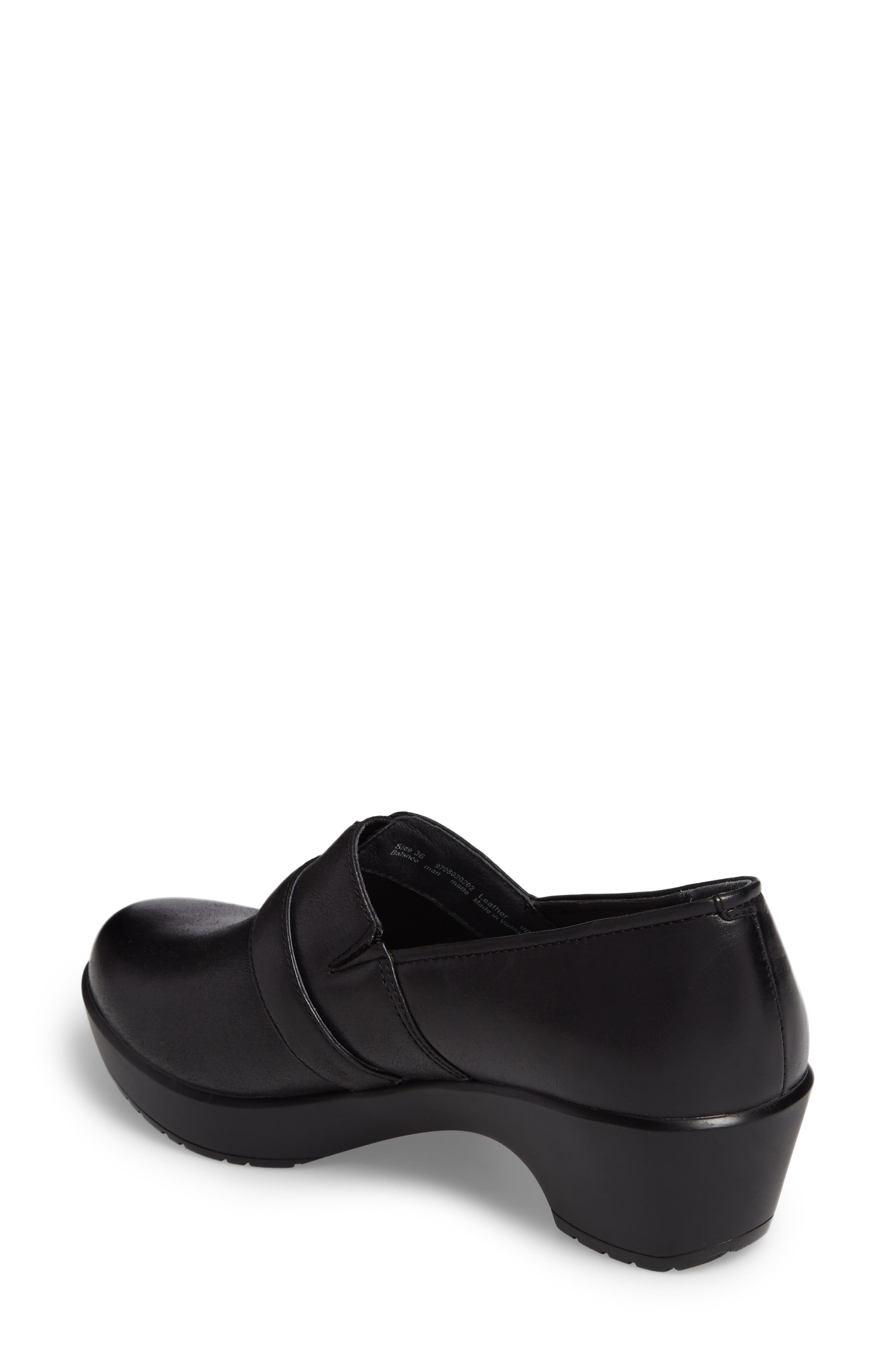 Jane Platform Loafer,                             Alternate thumbnail 2, color,                             Black Burnished Nappa Leather