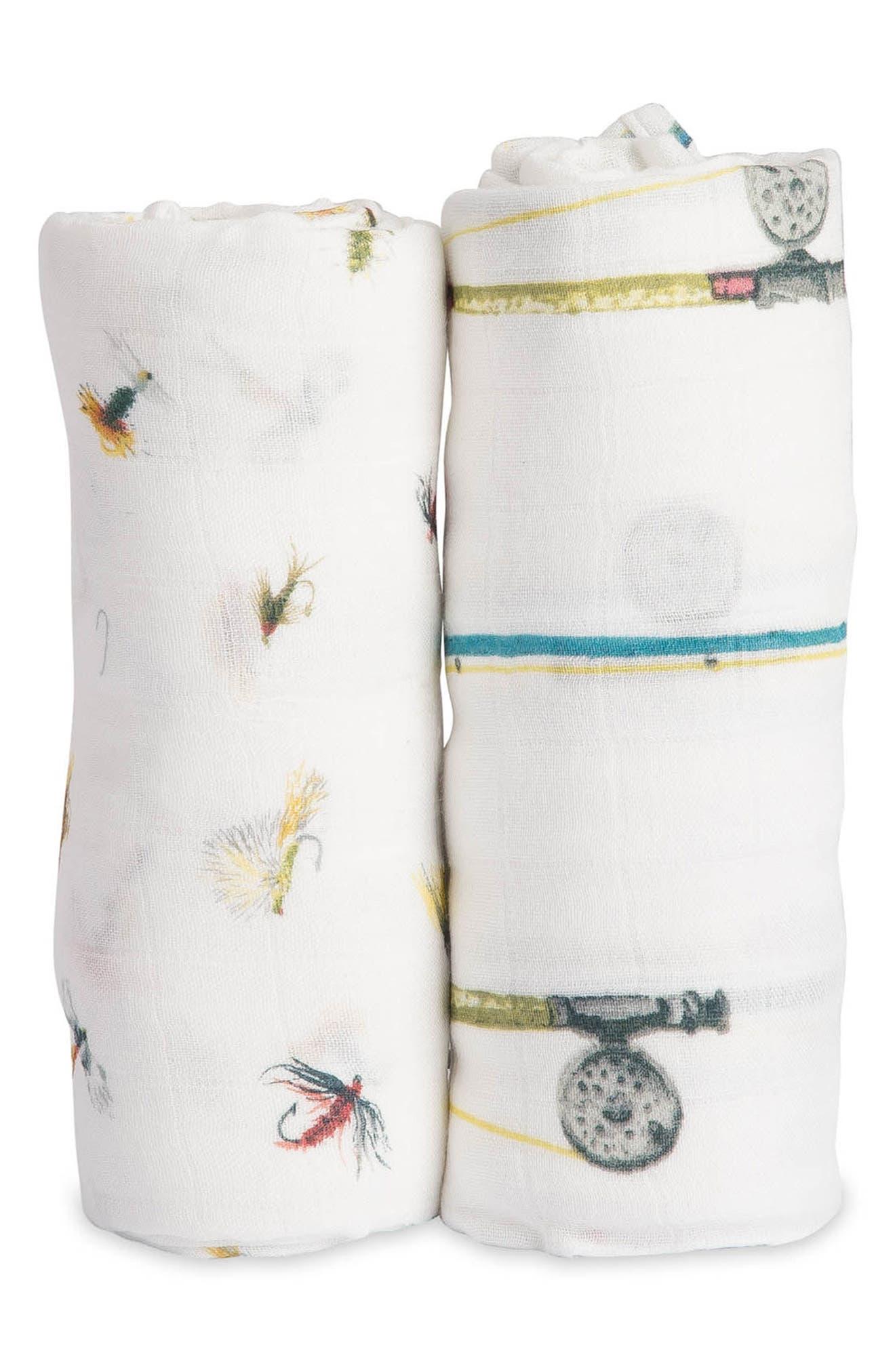 little unicorn 2-Pack Muslin Swaddle Blanket