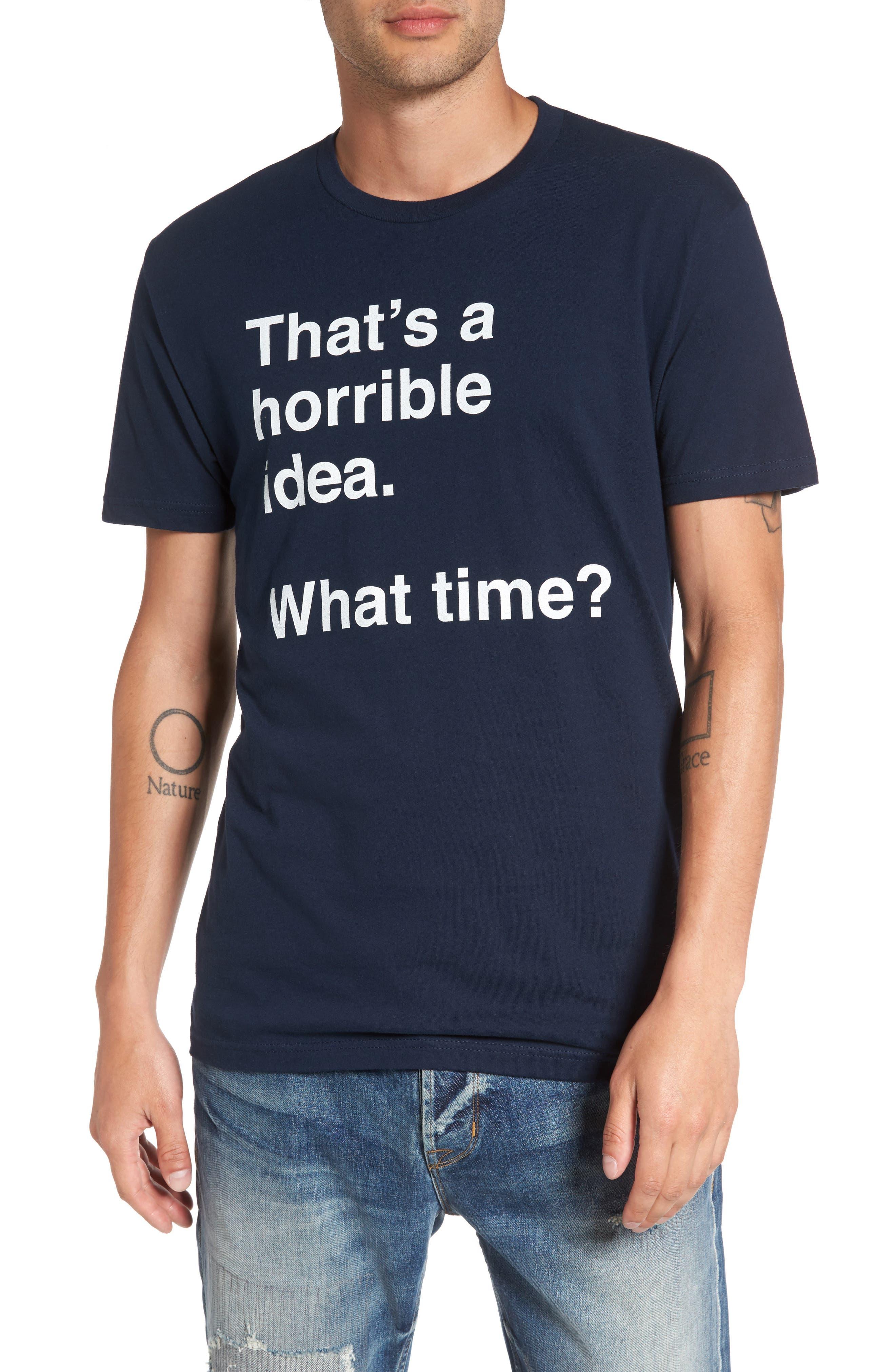 Horrible Idea T-Shirt,                         Main,                         color, Navy