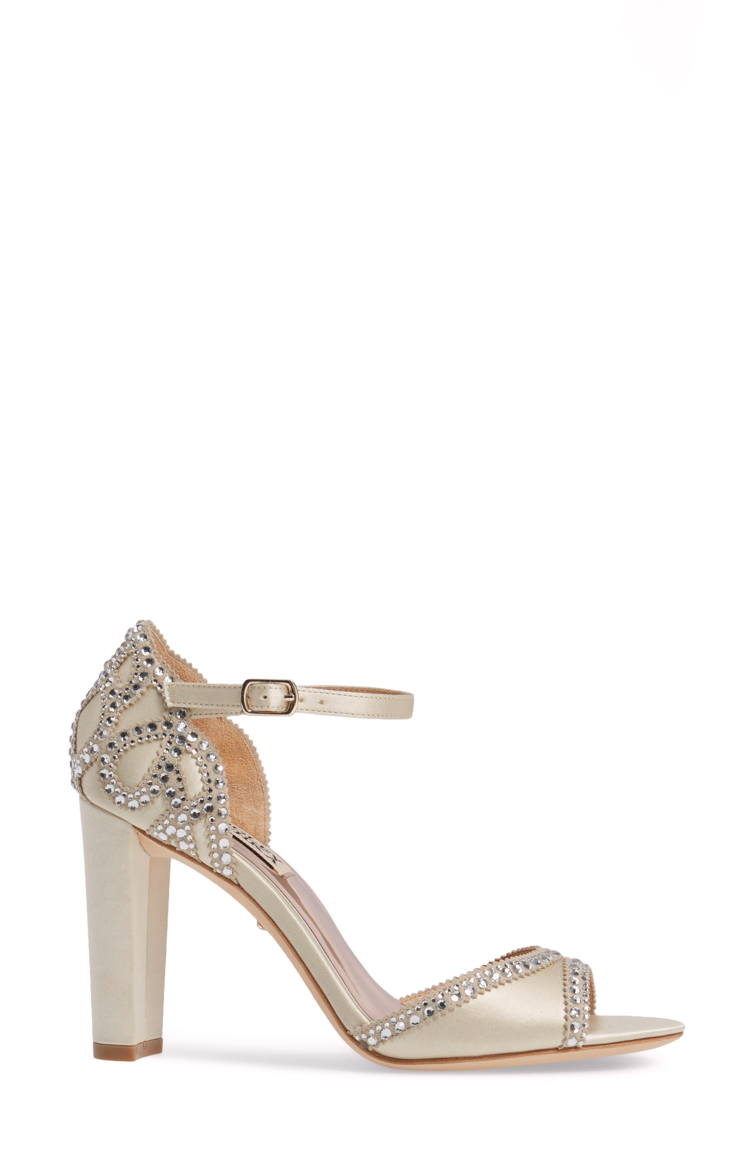 Alternate Image 3  - Badgley Mischka Kelly Embellished Crescent Heel Sandal (Women)