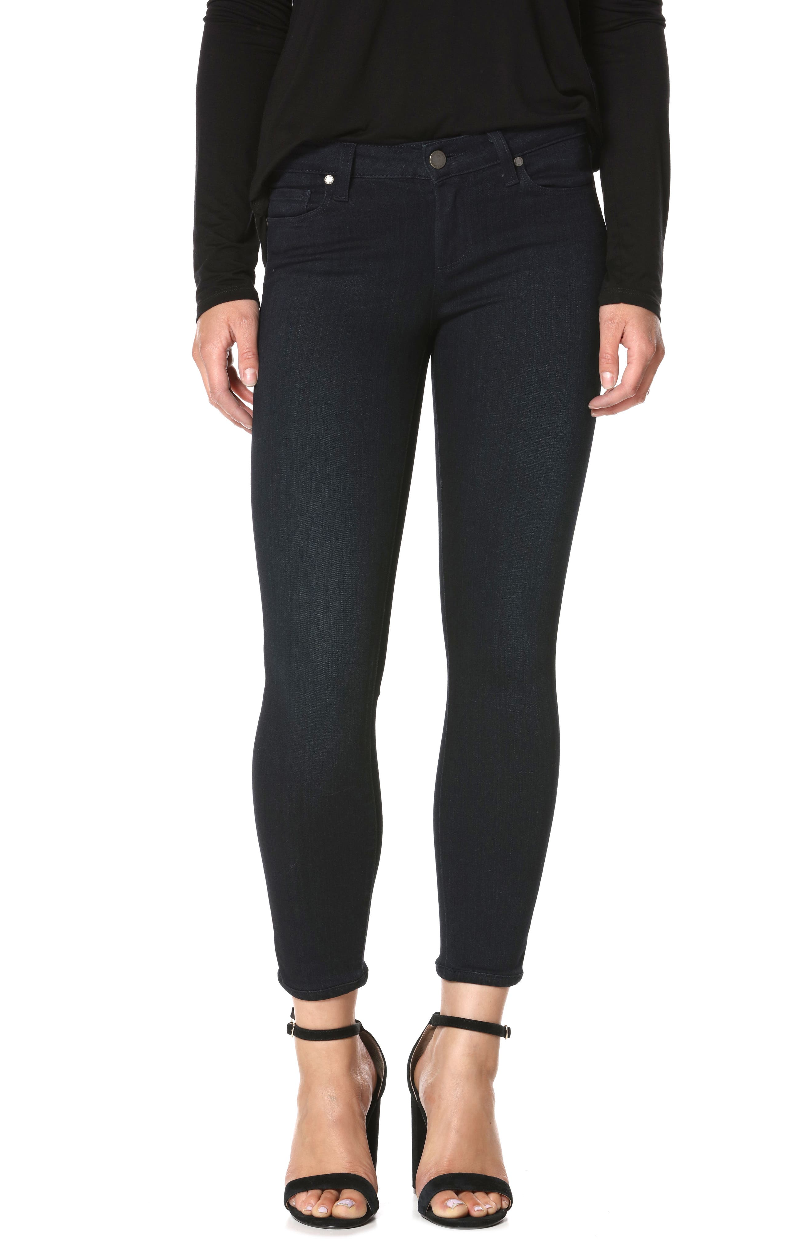 Alternate Image 1 Selected - PAIGE Transcend - Verdugo Crop Skinny Jeans (Tonal Mona)