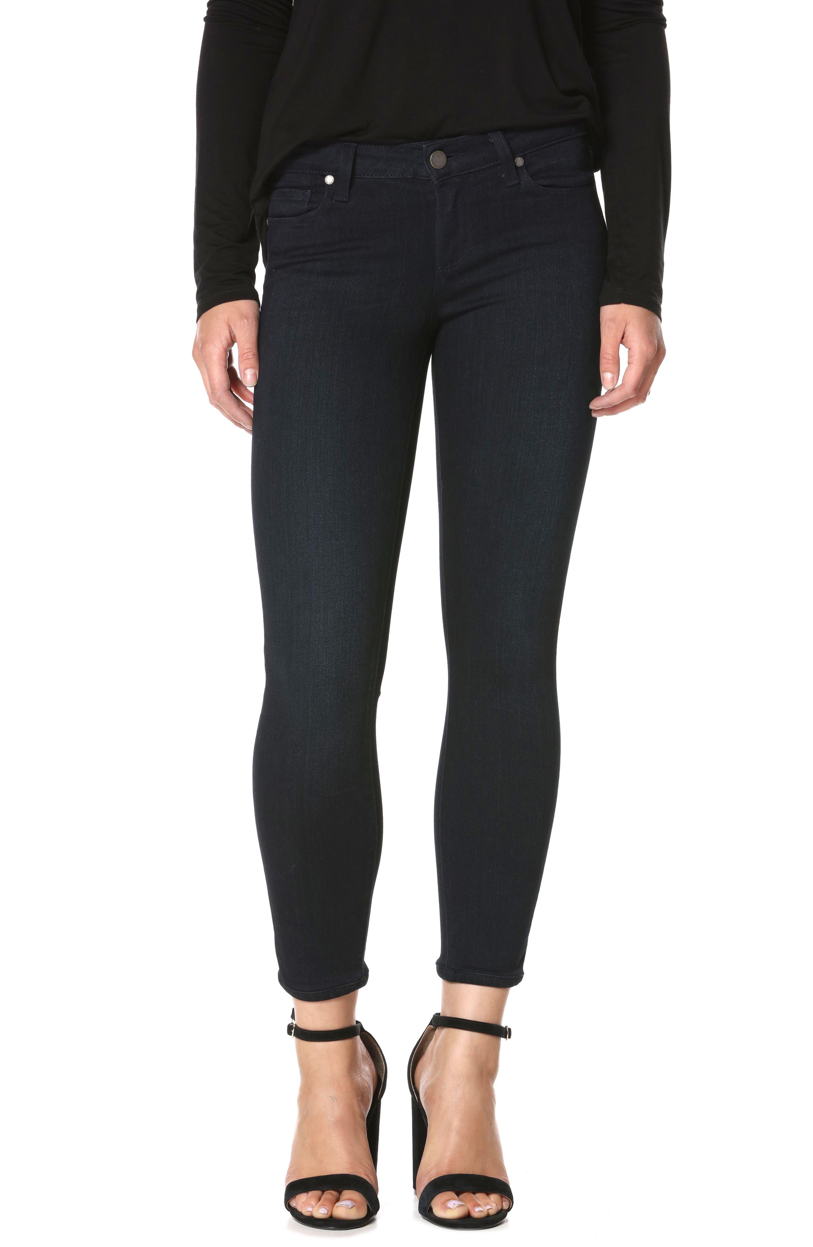 PAIGE Transcend - Verdugo Crop Skinny Jeans (Tonal Mona)