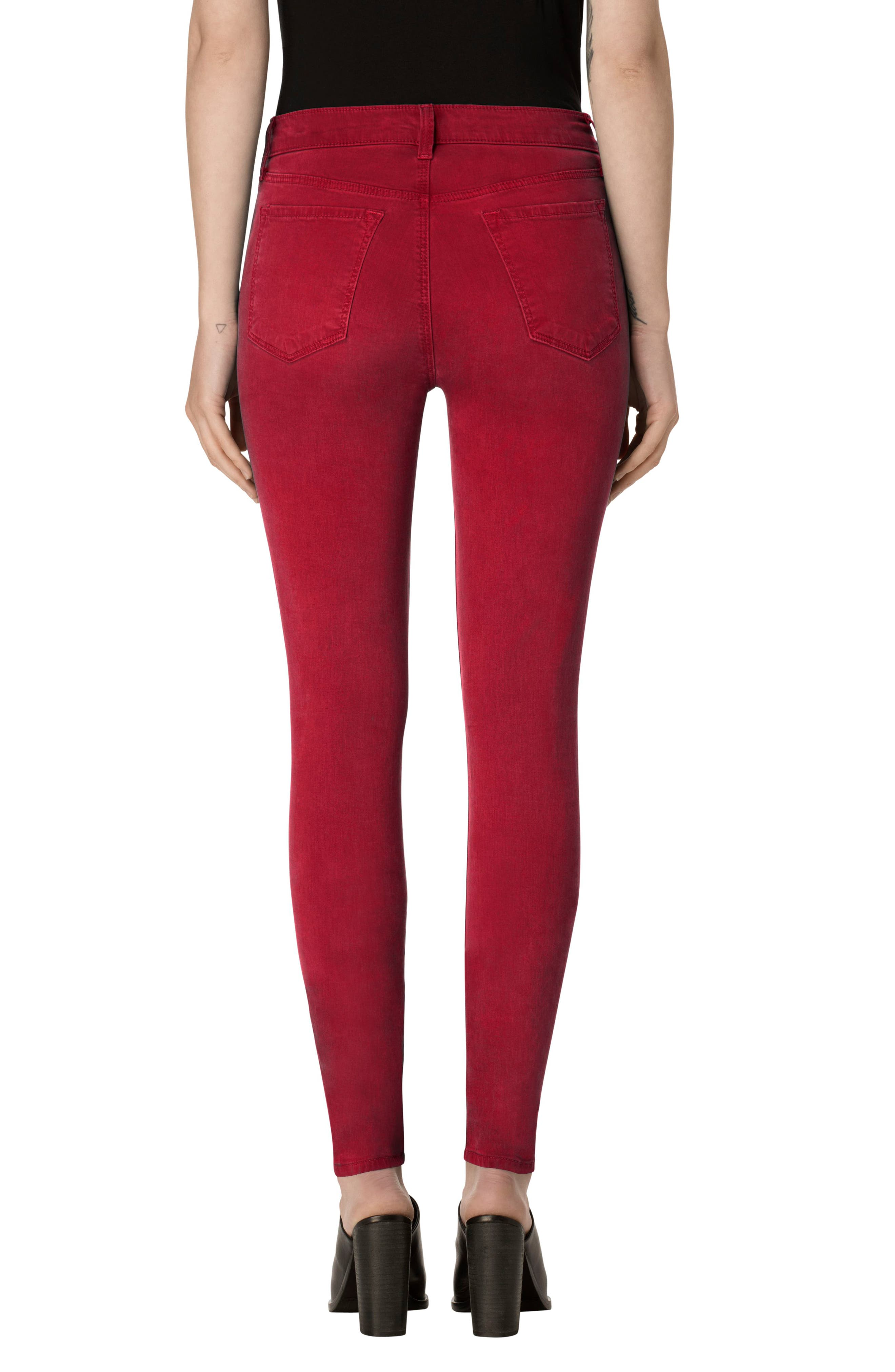 Alternate Image 2  - J Brand High Waist Ankle Super Skinny Jeans