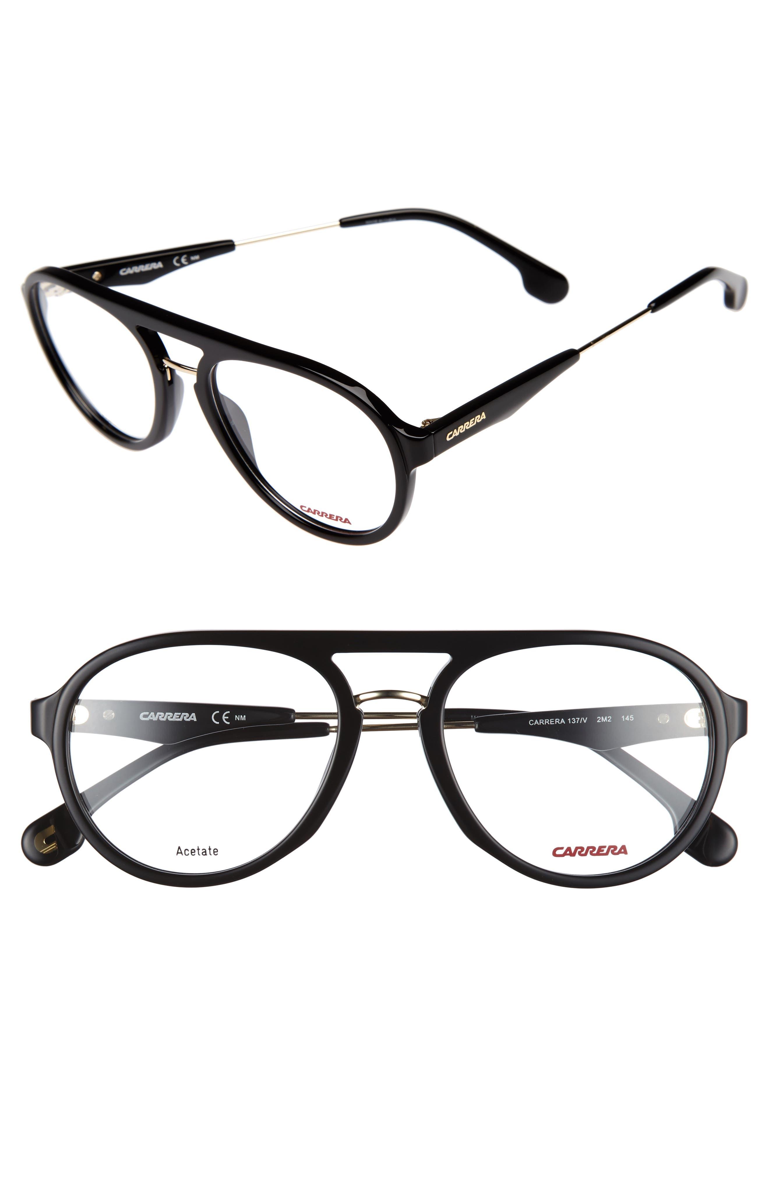 Carrera Eyewear 52mm Aviator Optical Glasses