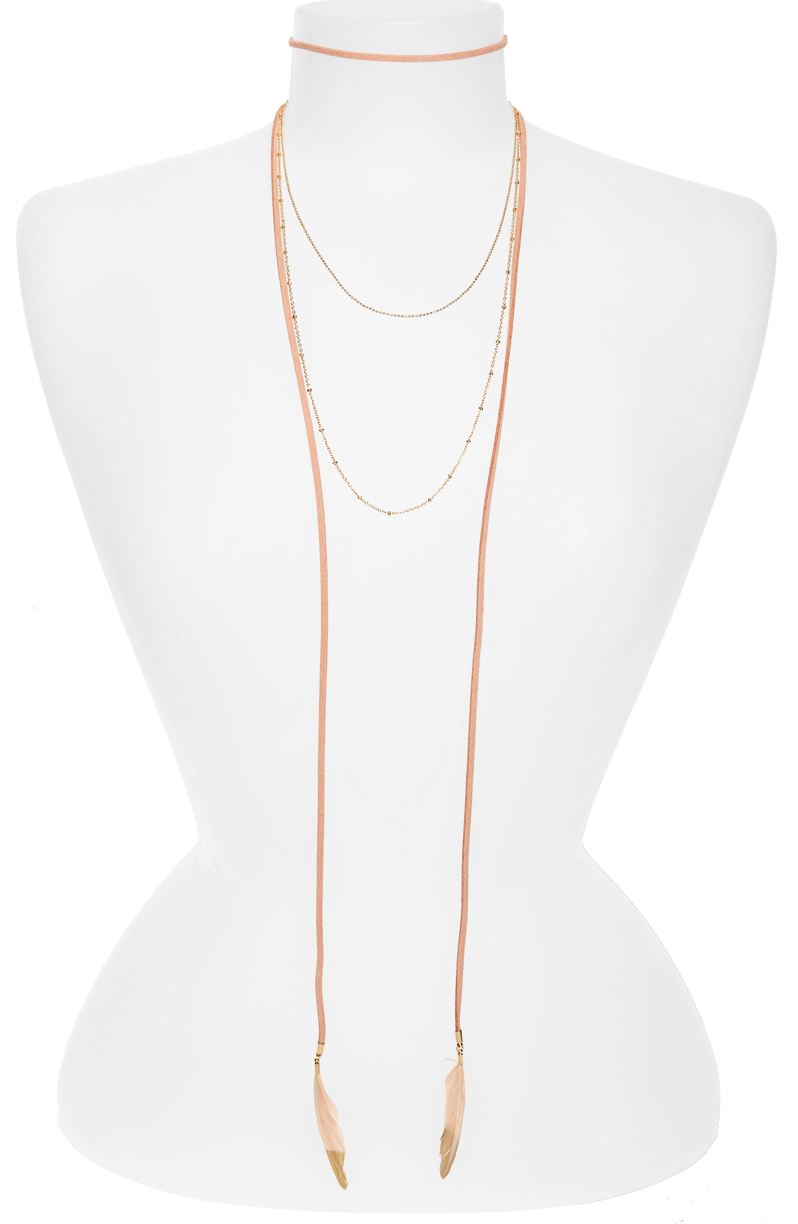 Panacea Layered Feather Necklace