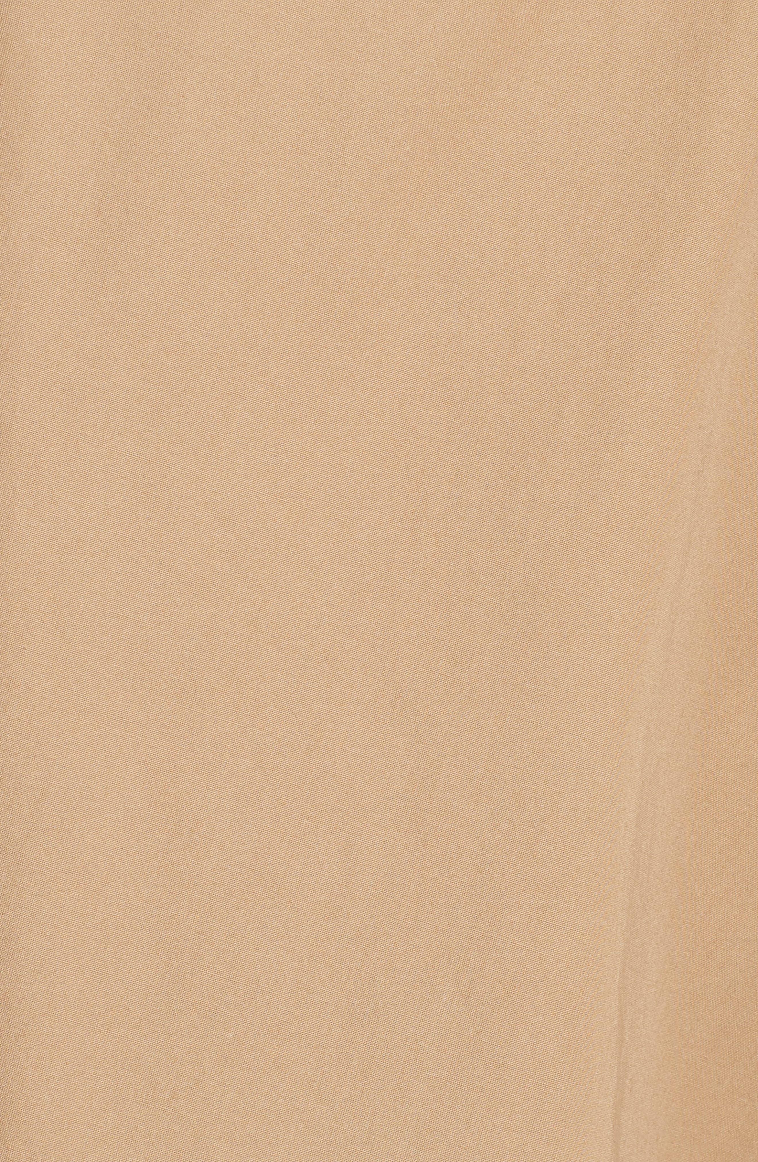 Pleated Wrap Dress,                             Alternate thumbnail 5, color,                             Camel