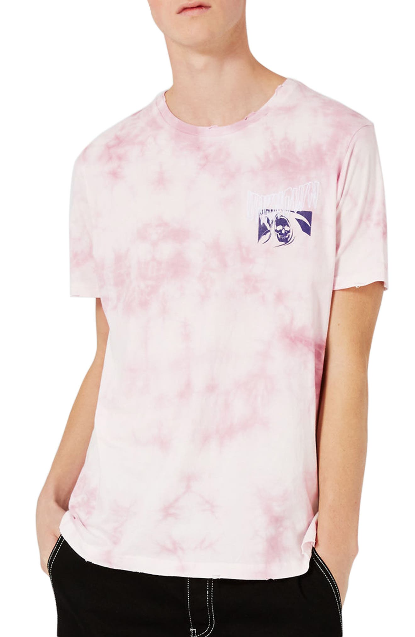 Oversize Unknown Graphic T-Shirt,                         Main,                         color, Pink