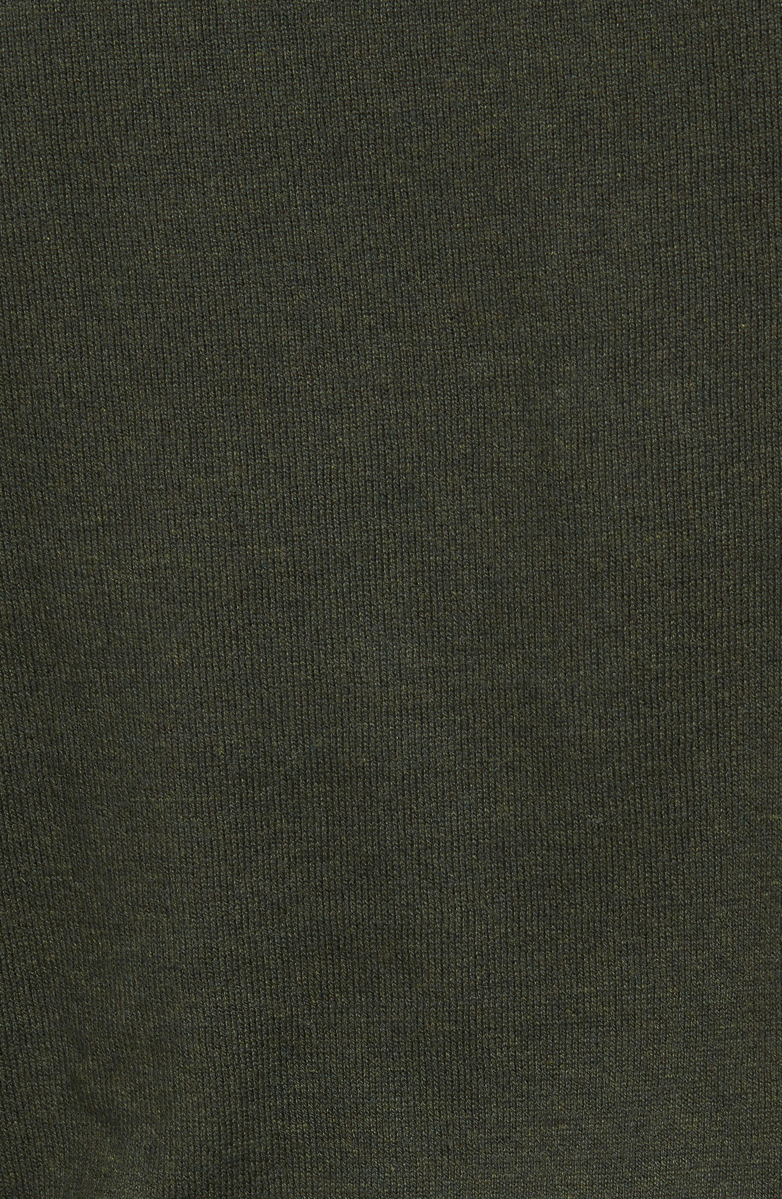 Cotton & Cashmere Crewneck Sweater,                             Alternate thumbnail 5, color,                             Green Deep Pine