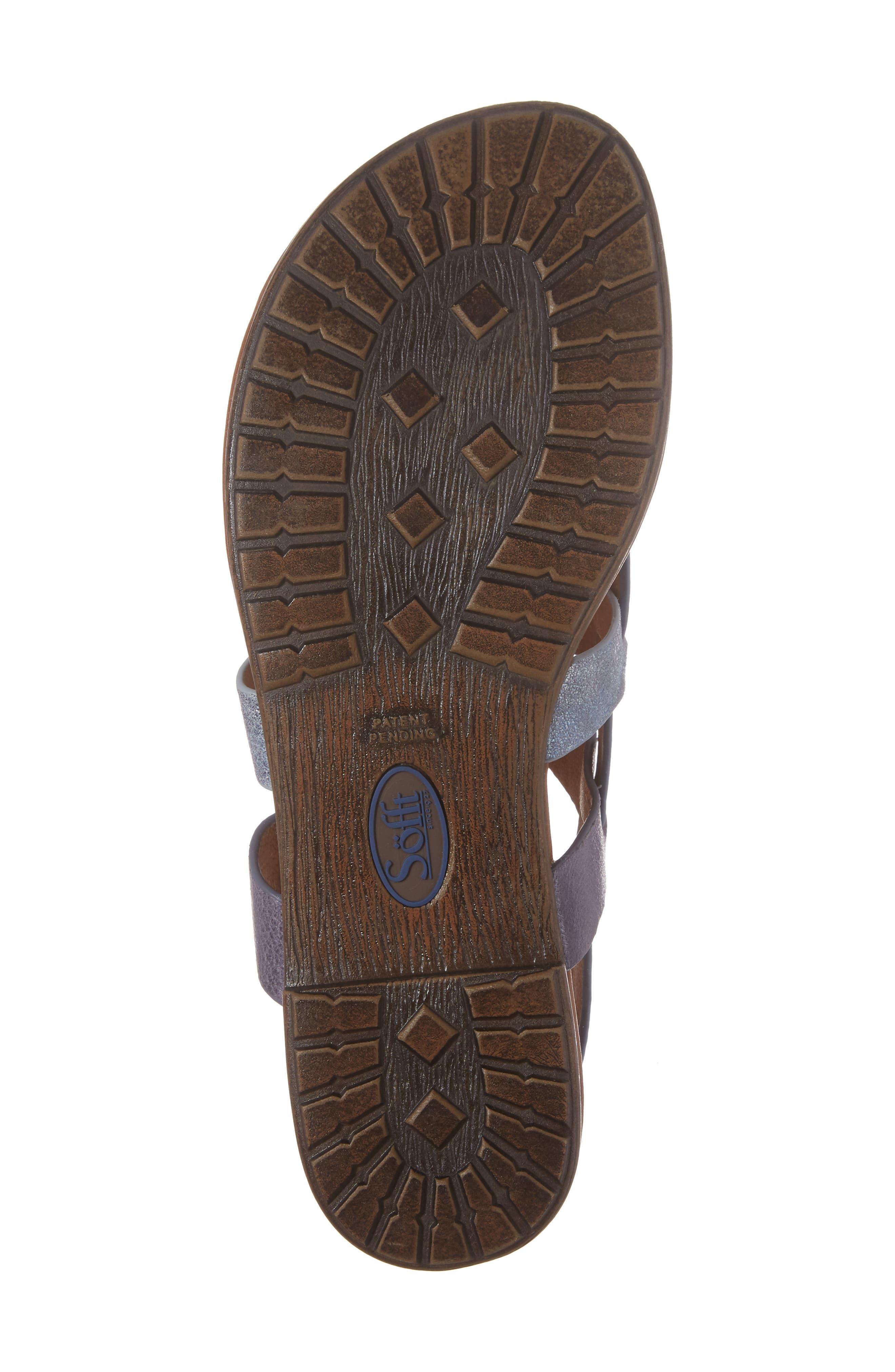 Bena Strappy Sandal,                             Alternate thumbnail 6, color,                             Denim/ Blue/ Pale Blue Leather