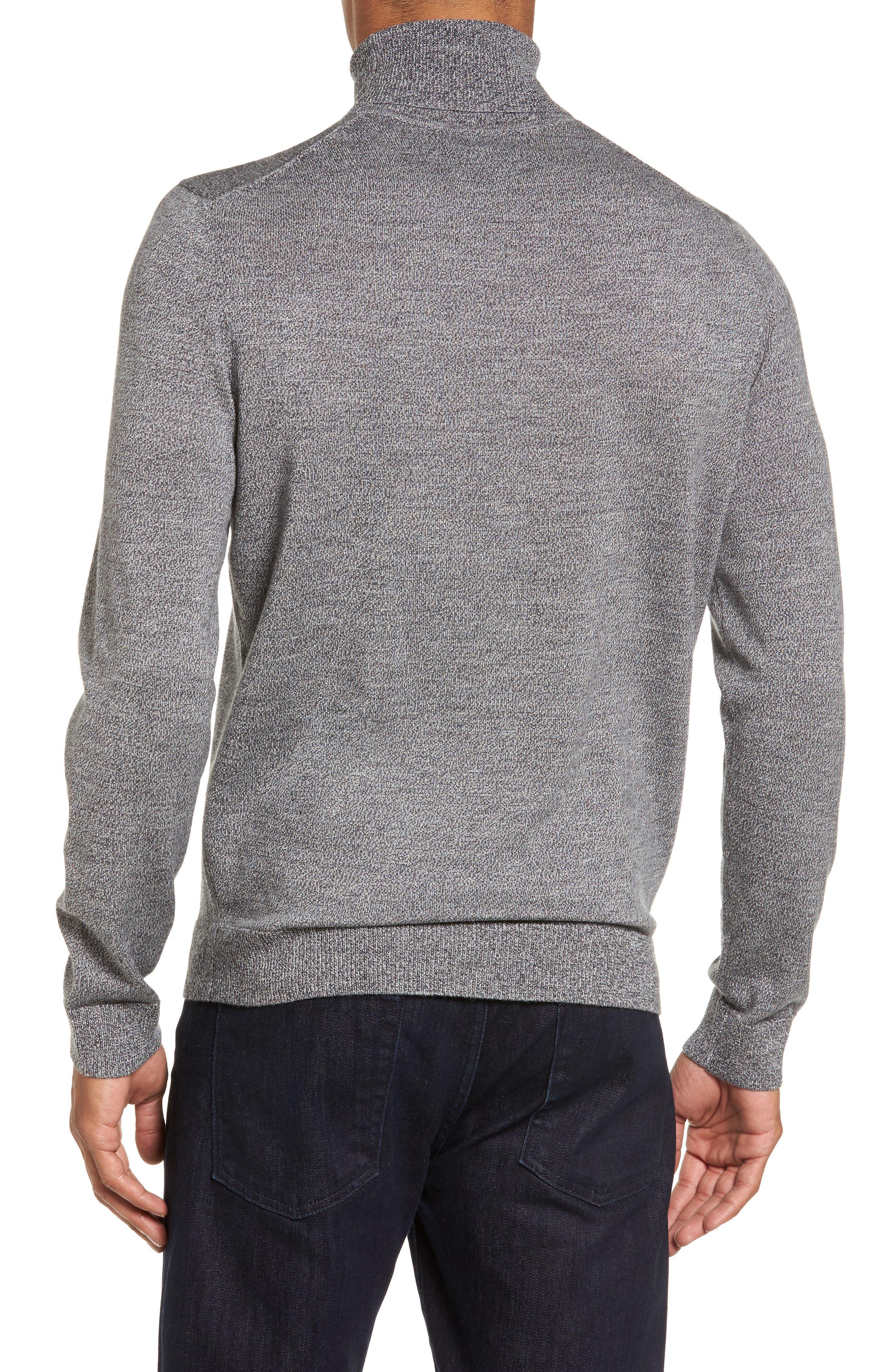 Merino Wool Turtleneck Sweater,                             Alternate thumbnail 2, color,                             Grey Shade Marl
