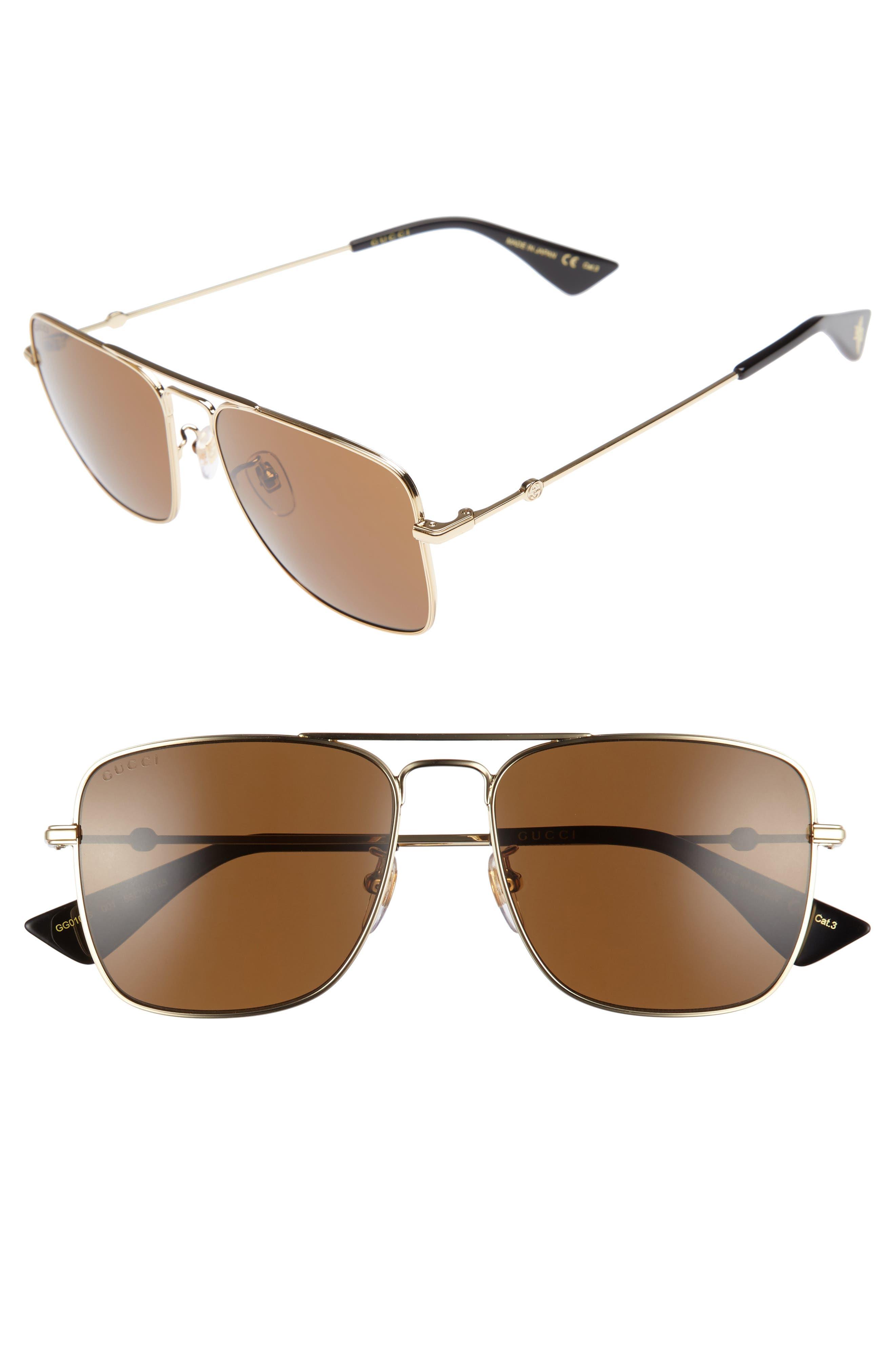 GUCCI Caravan 55mm Sunglasses
