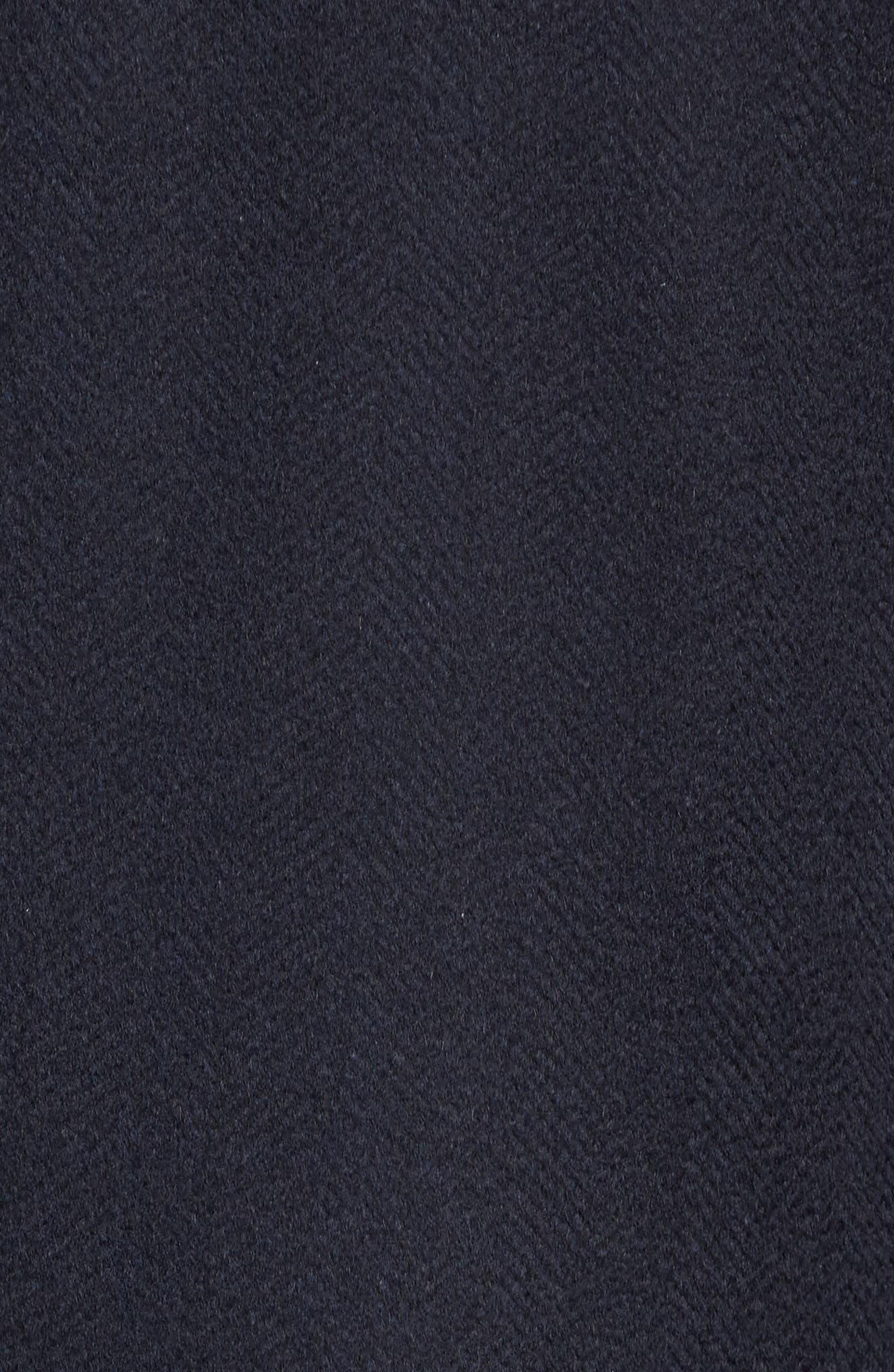 Culton Cashmere Overcoat,                             Alternate thumbnail 5, color,                             Navy