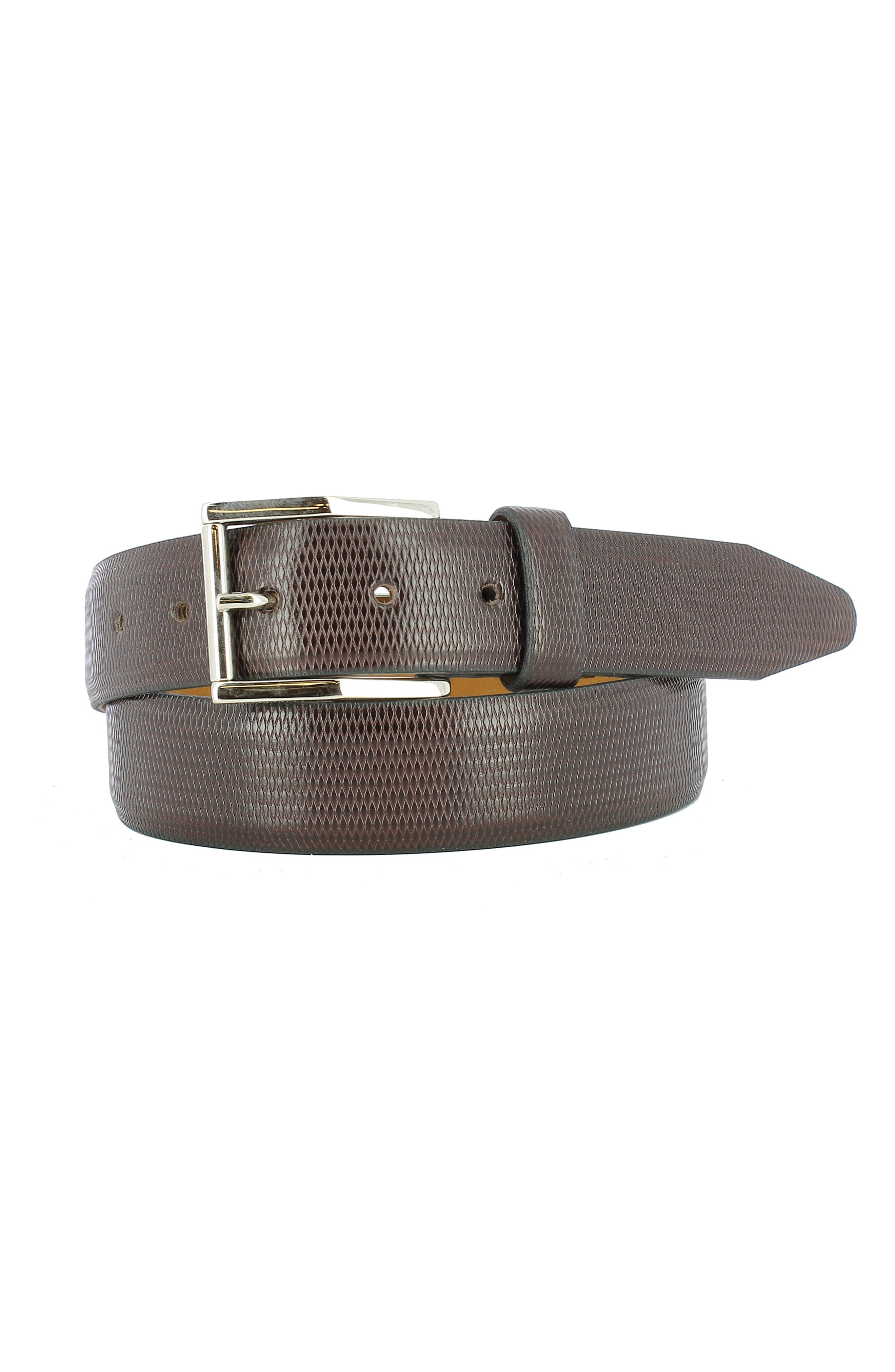 Gio Leather Belt,                         Main,                         color, Brown