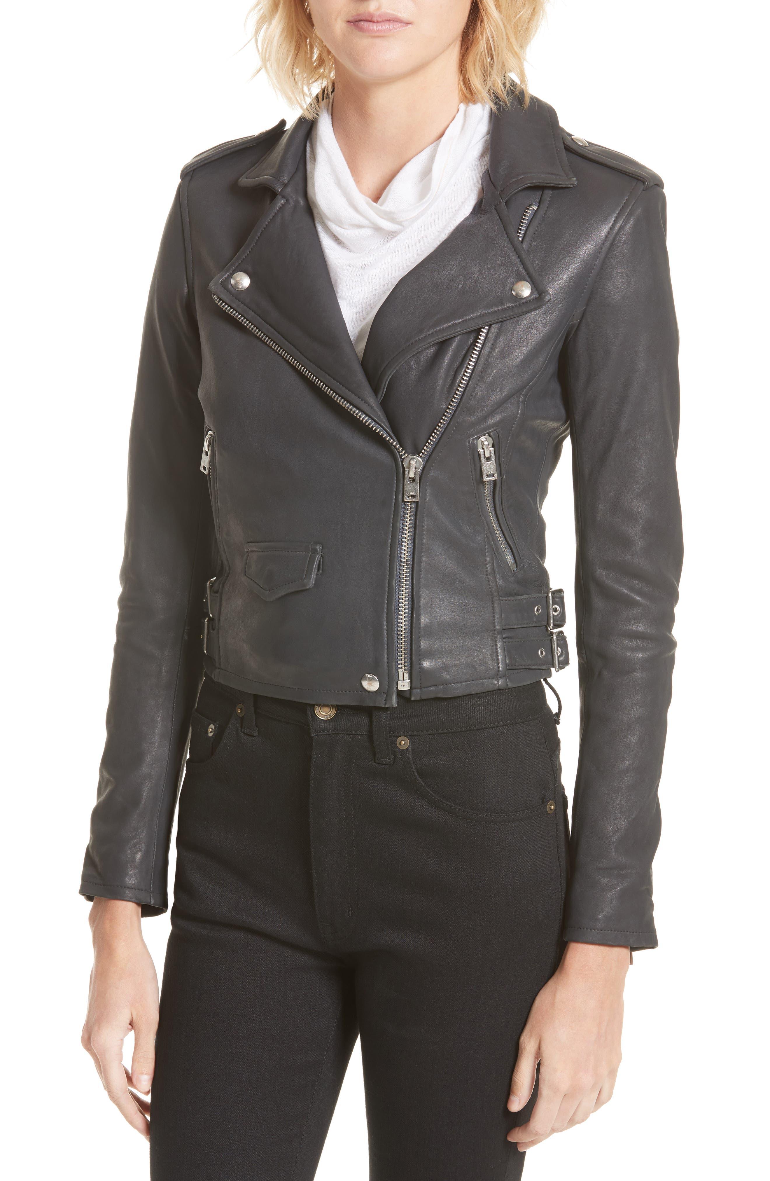 Alternate Image 4  - IRO 'Ashville' Lambskin Leather Moto Jacket