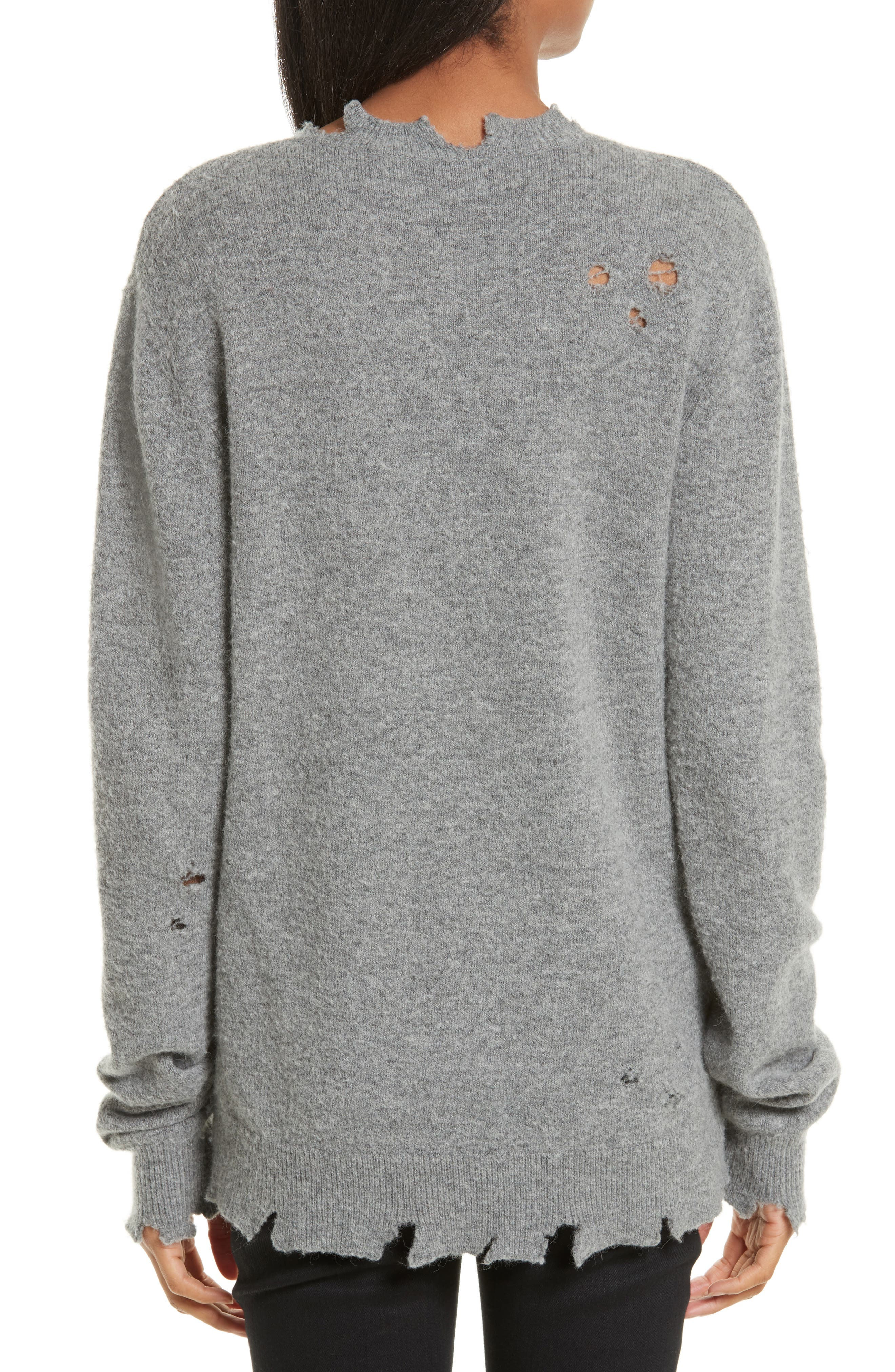 Brody Distressed Sweater,                             Alternate thumbnail 2, color,                             Grey