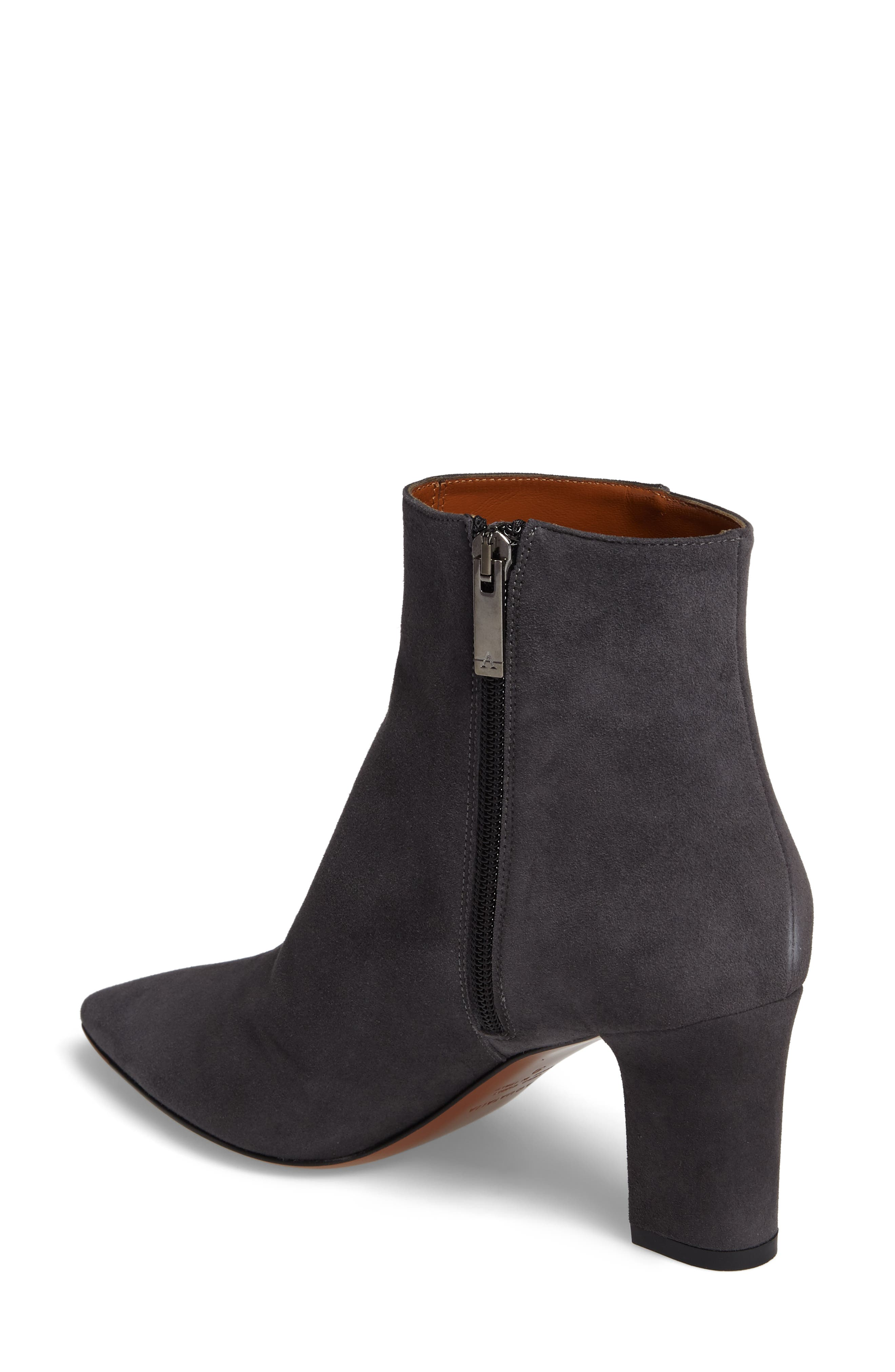 Maia Weatherproof Pointed Toe Bootie,                             Alternate thumbnail 2, color,                             Anthracite Suede