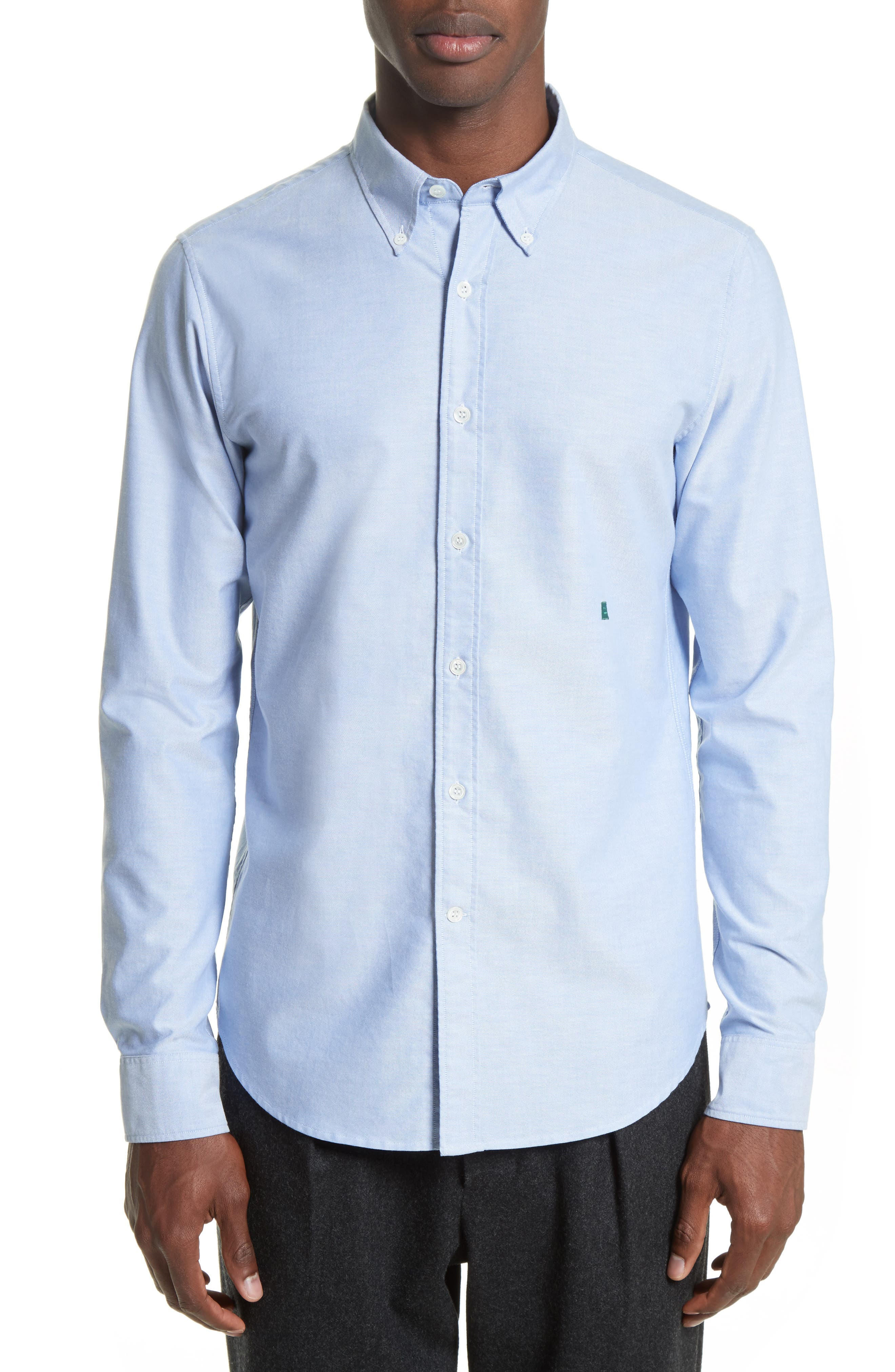 Ohio Face Patch Oxford Shirt,                         Main,                         color, Blue