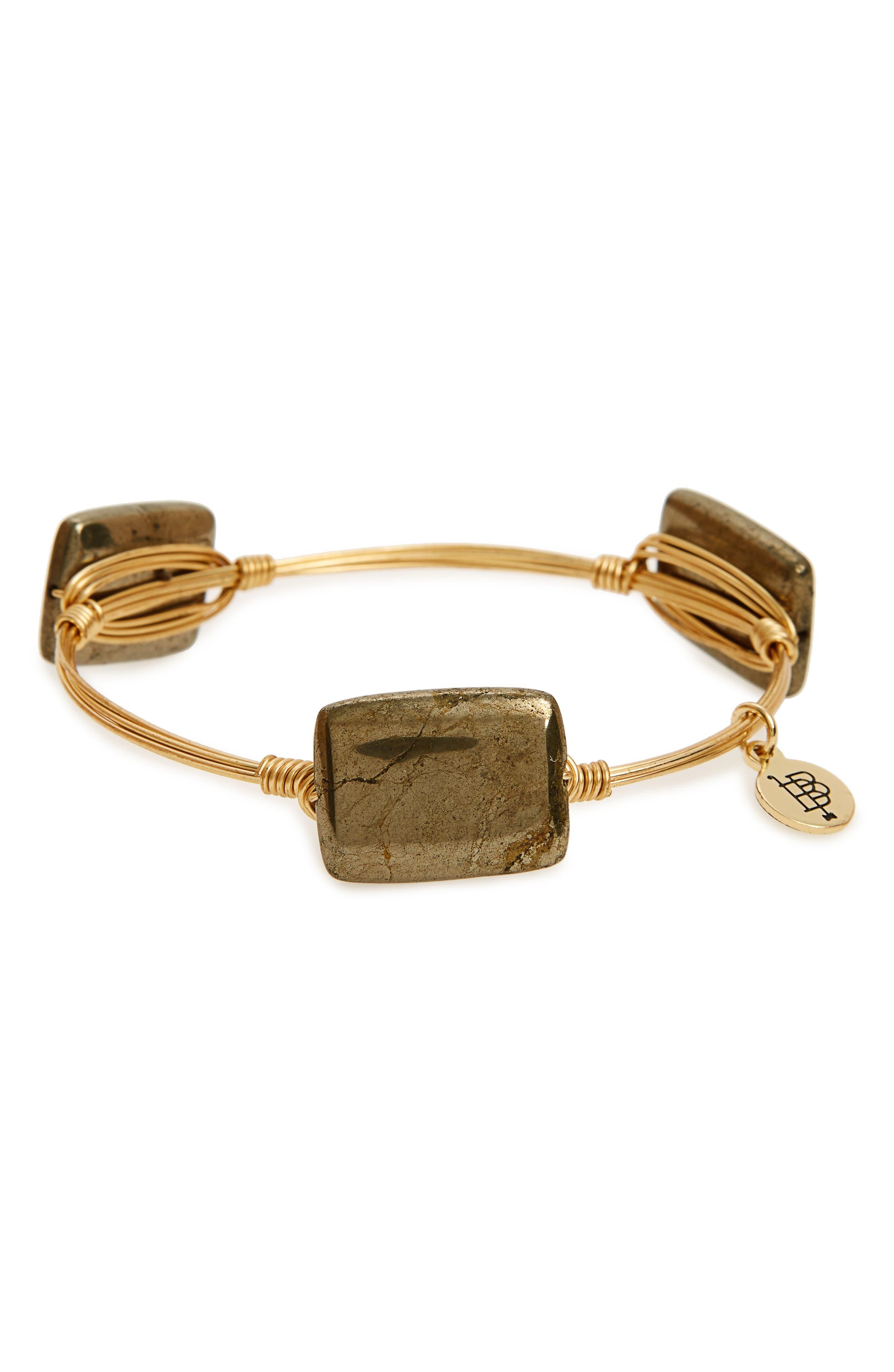 Bourbon and Boweties Pyrite Bracelet