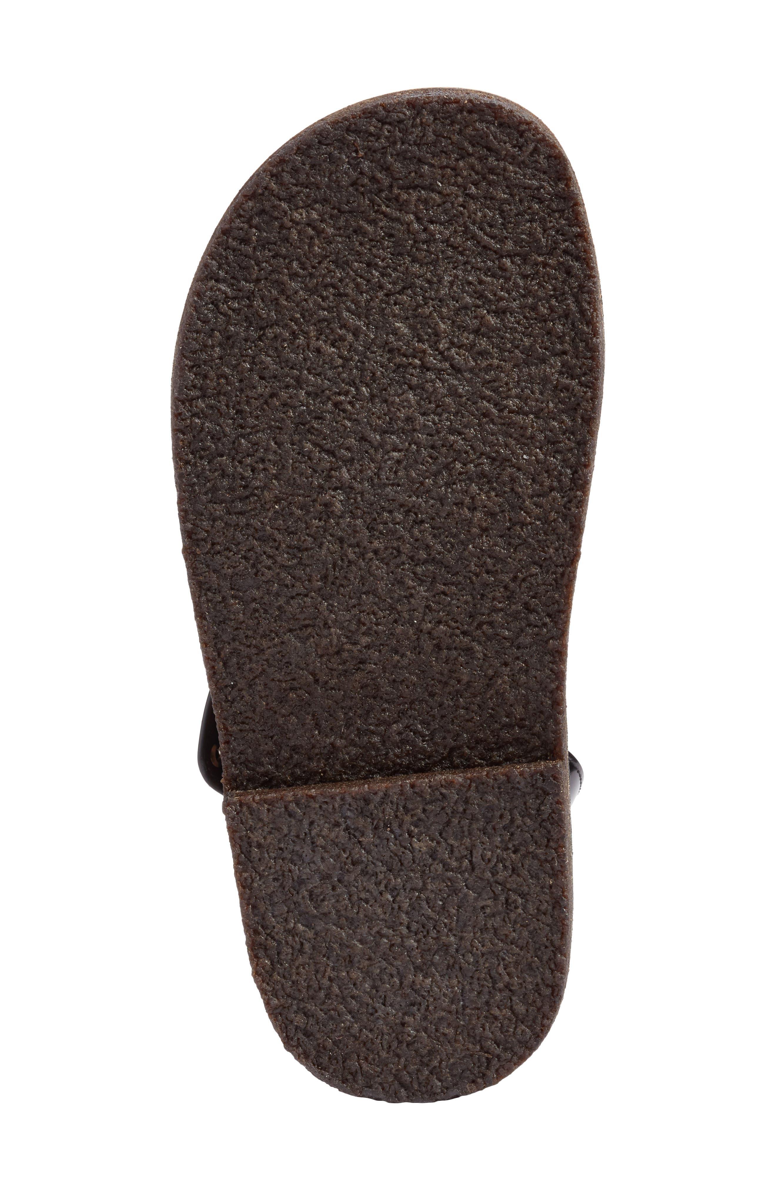 Crisscross Sandal,                             Alternate thumbnail 6, color,                             Nero Leather