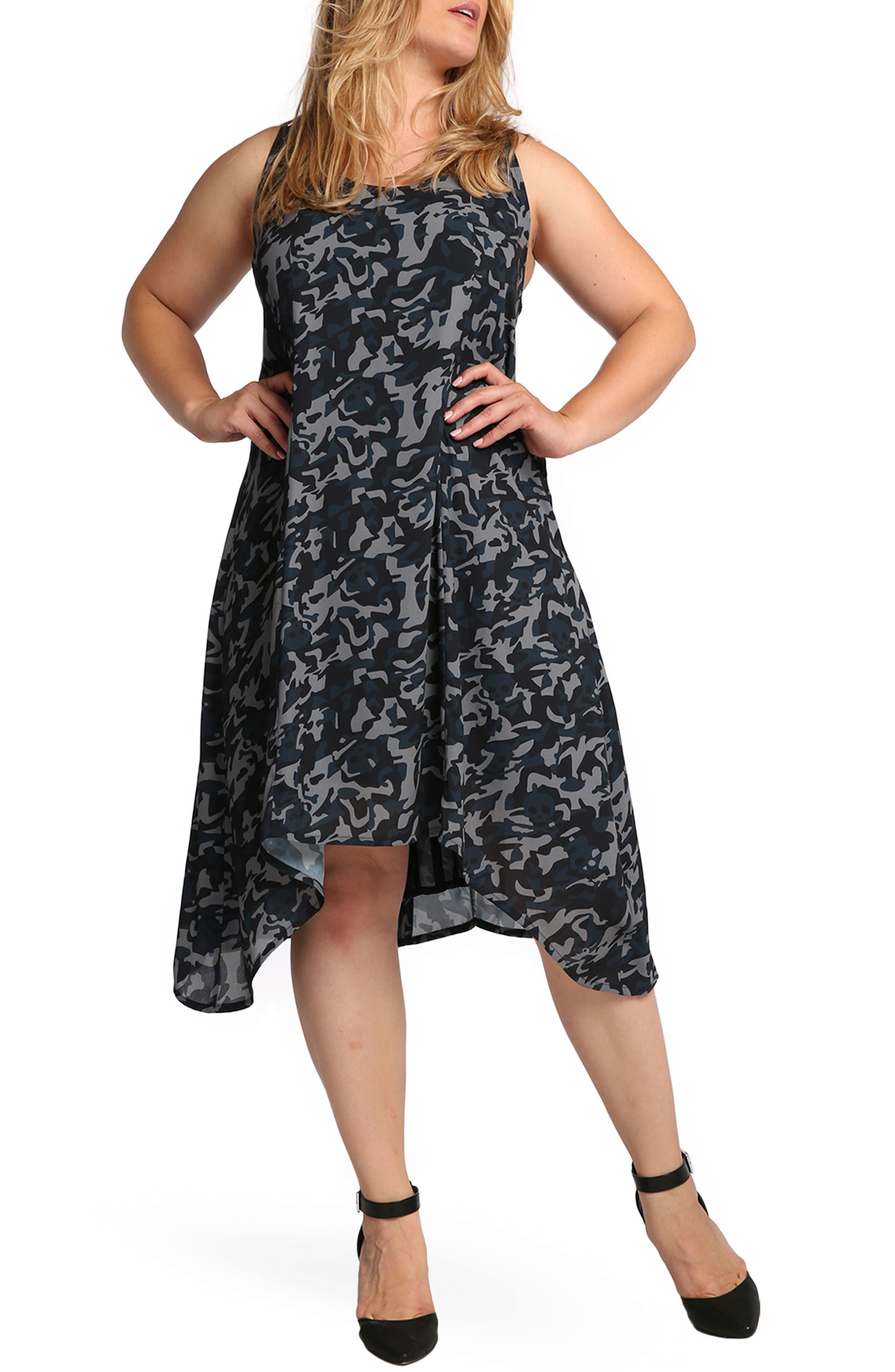 Alternate Image 1 Selected - Standards & Practices Ace Camo Print Tank Dress (Plus Size)