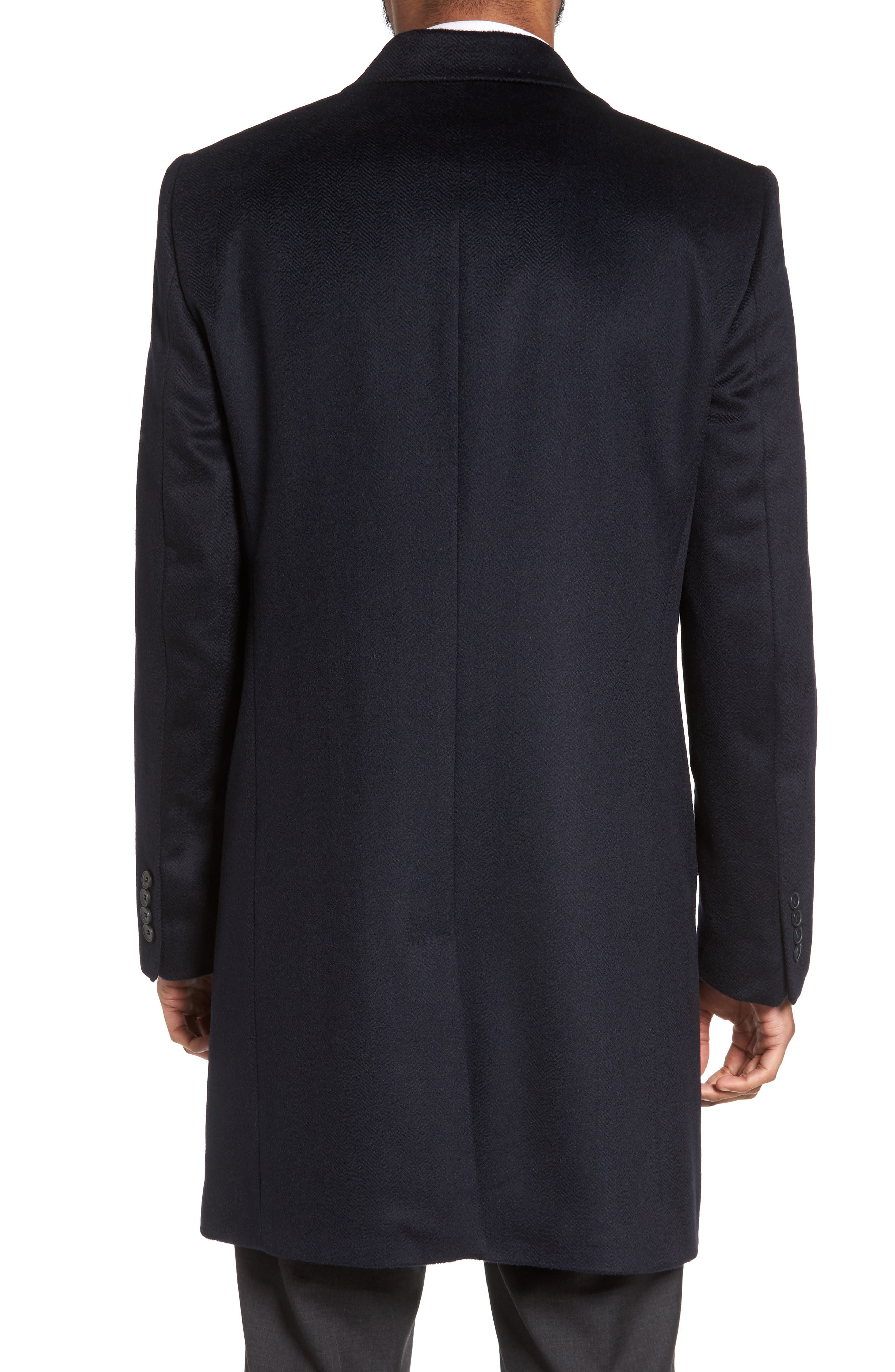 Culton Cashmere Overcoat,                             Alternate thumbnail 2, color,                             Navy