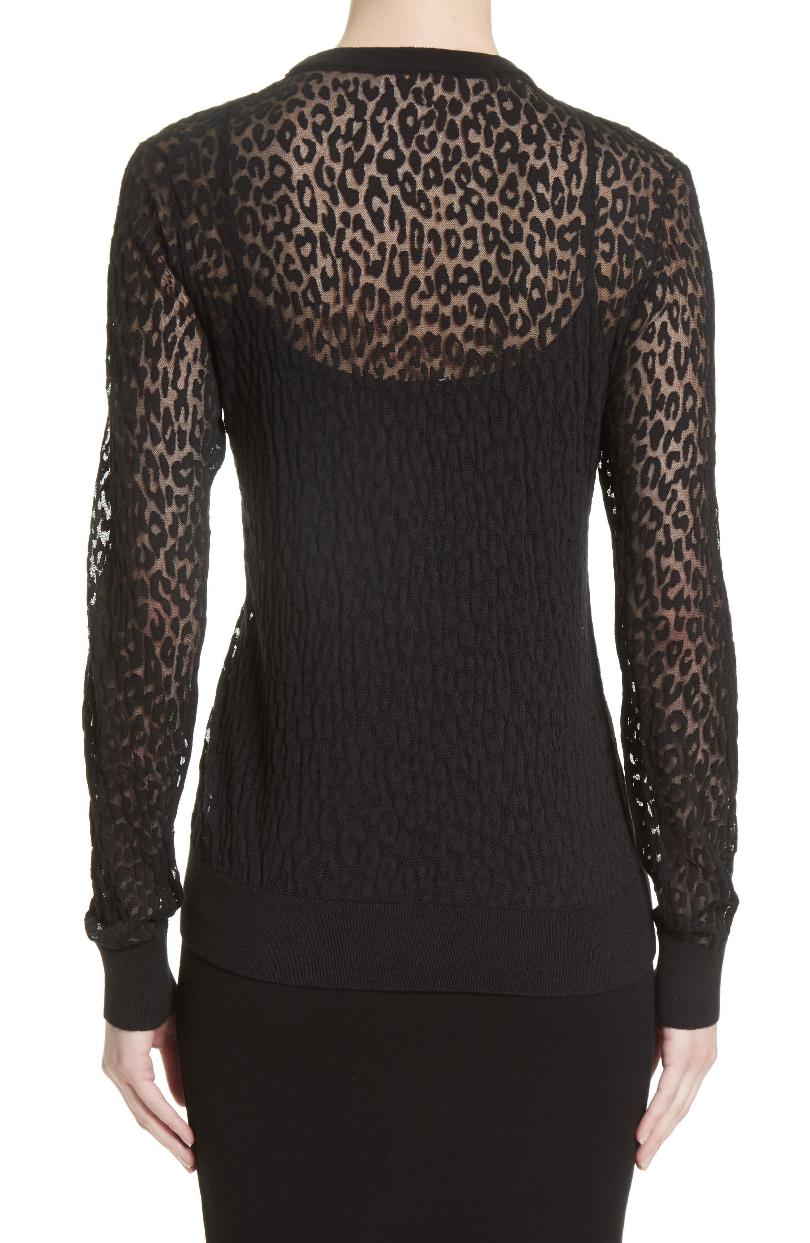 Alternate Image 2  - Michael Kors Burnout Leopard Sweater