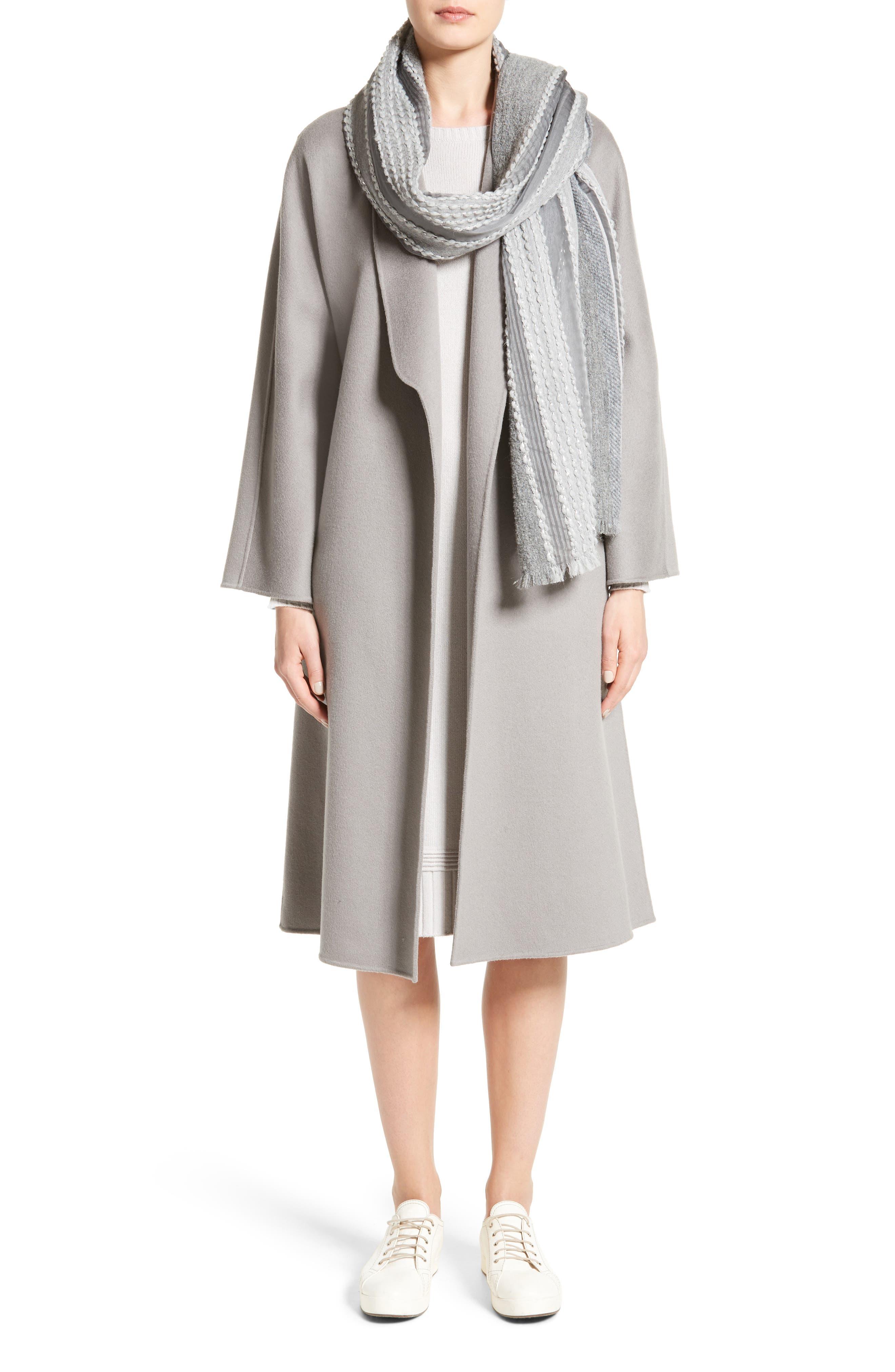 Alternate Image 7  - Armani Collezioni Double Face Cashmere Wrap Coat