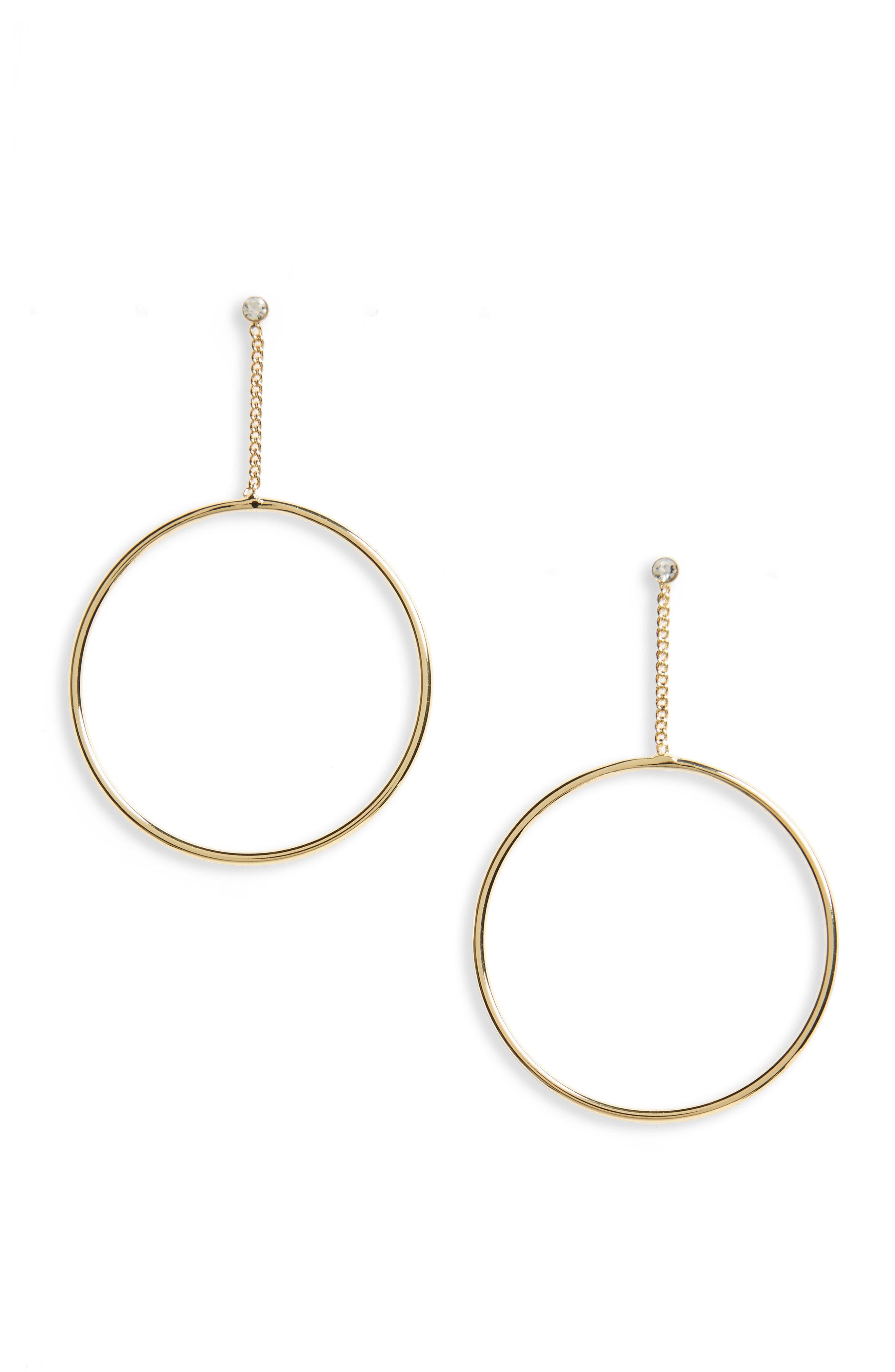 SHASHI Lauren Hoop Earrings