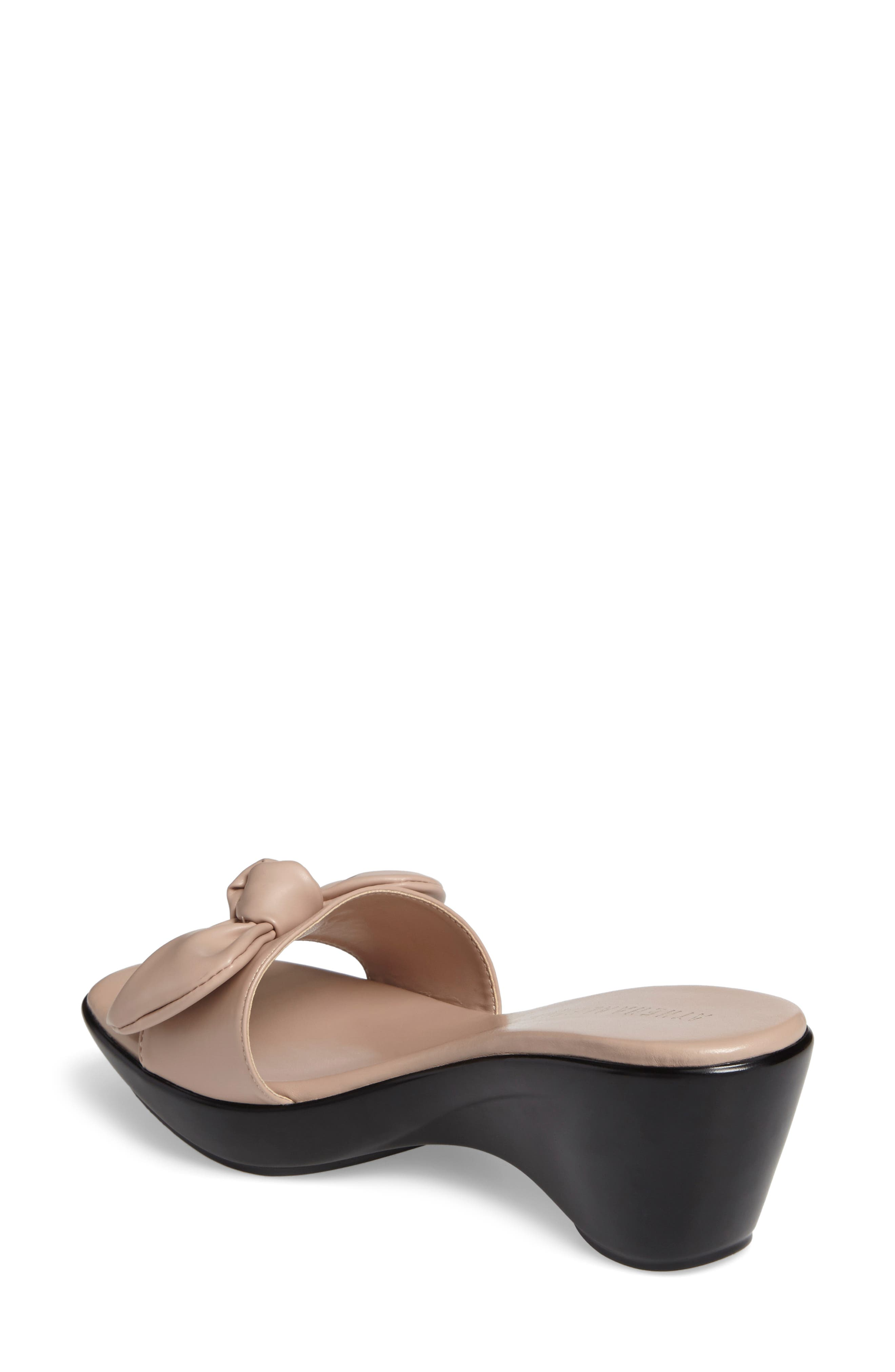 Pattye Knotted Slide Sandal,                             Alternate thumbnail 2, color,                             Blush Faux Leather