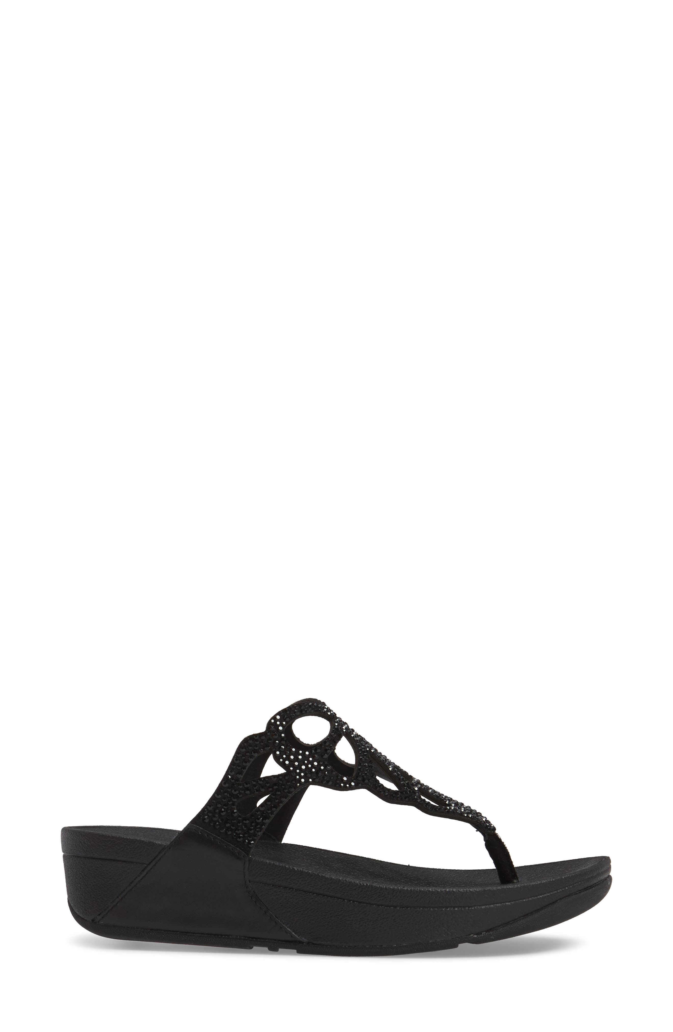Alternate Image 3  - FitFlop Bumble Crystal Flip Flop (Women)
