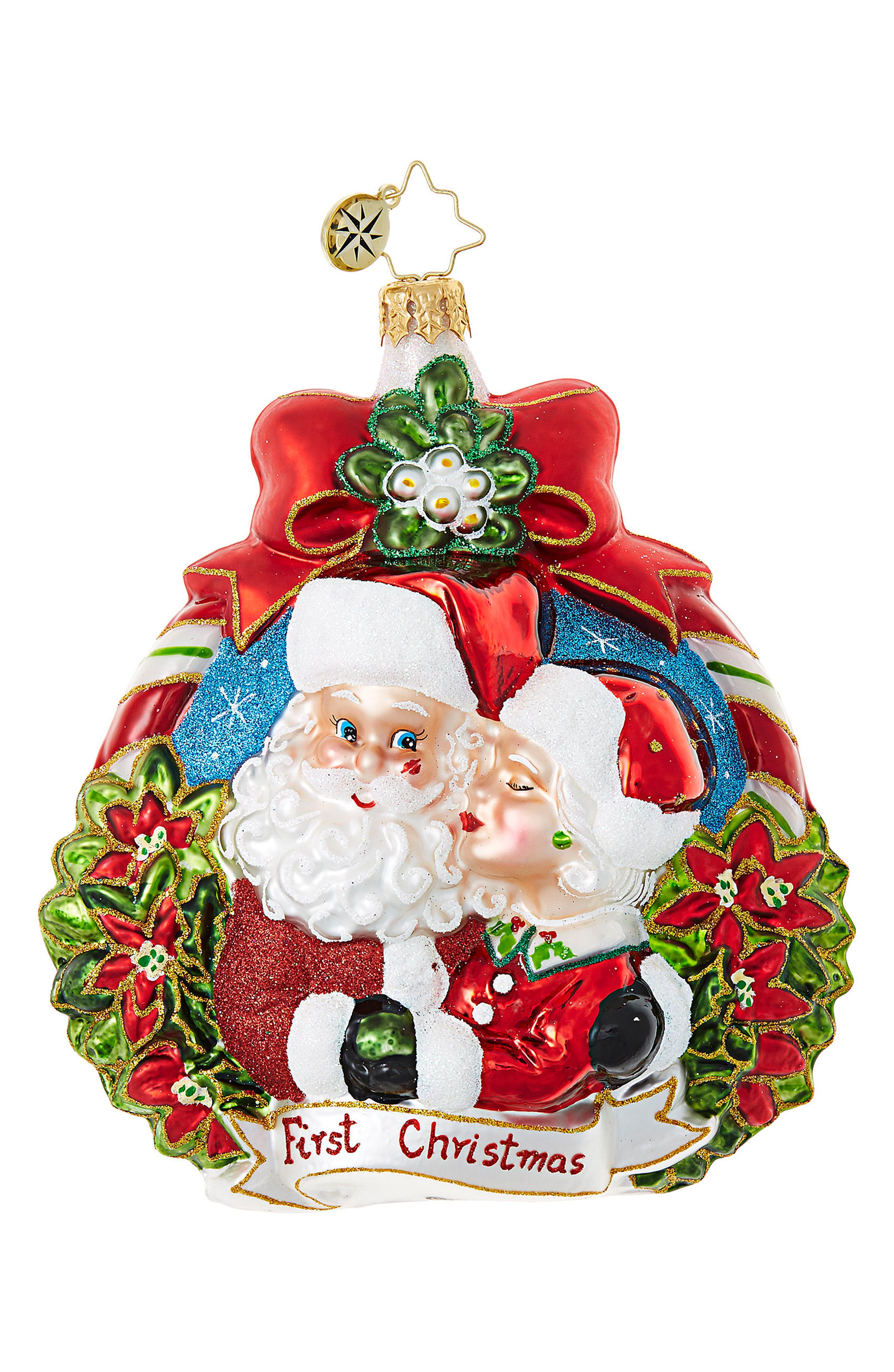 First Christmas Glass Ornament,                         Main,                         color, Red/ Multi