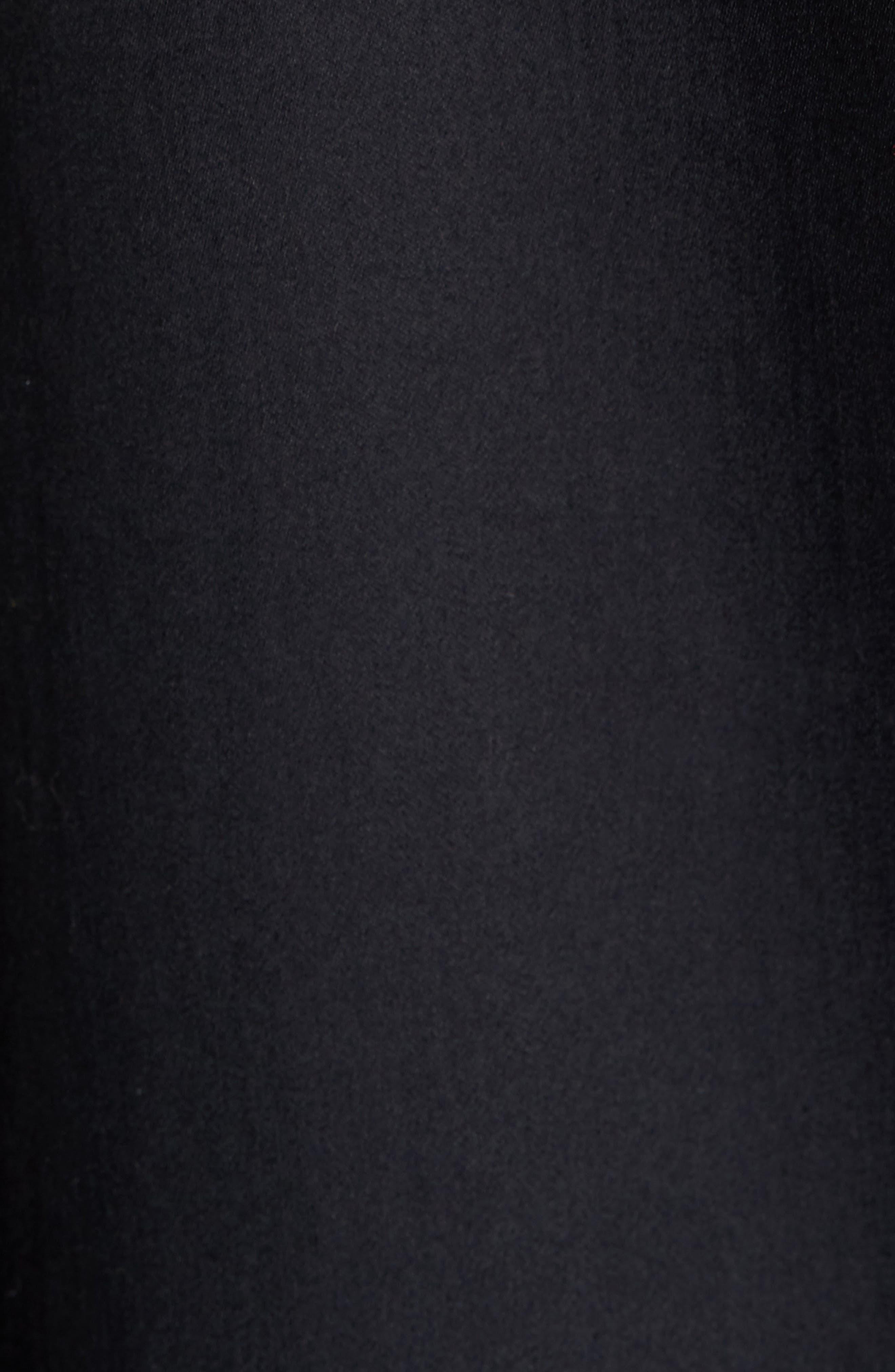 Contrast Trim Shirtdress,                             Alternate thumbnail 5, color,                             Black/ White