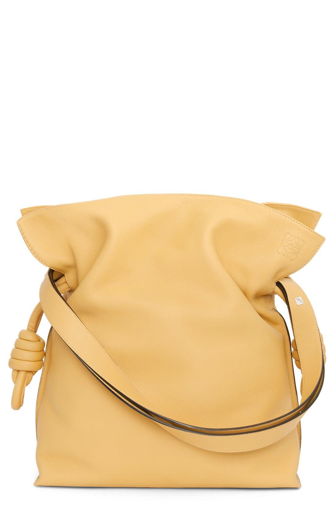 main image loewe uflamenco knotu calfskin leather bag