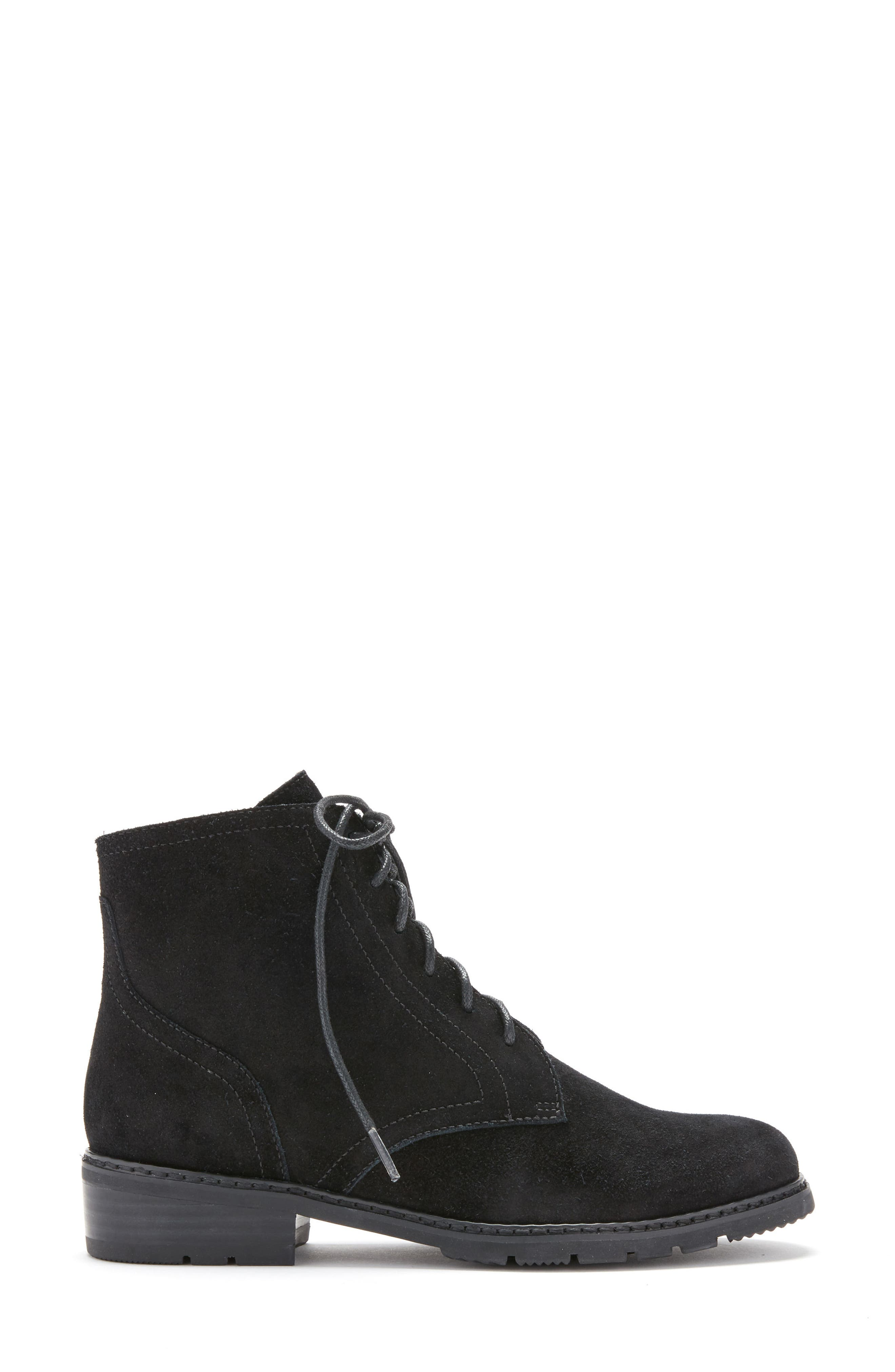 Vivi Waterproof Boot,                             Alternate thumbnail 3, color,                             Black Suede