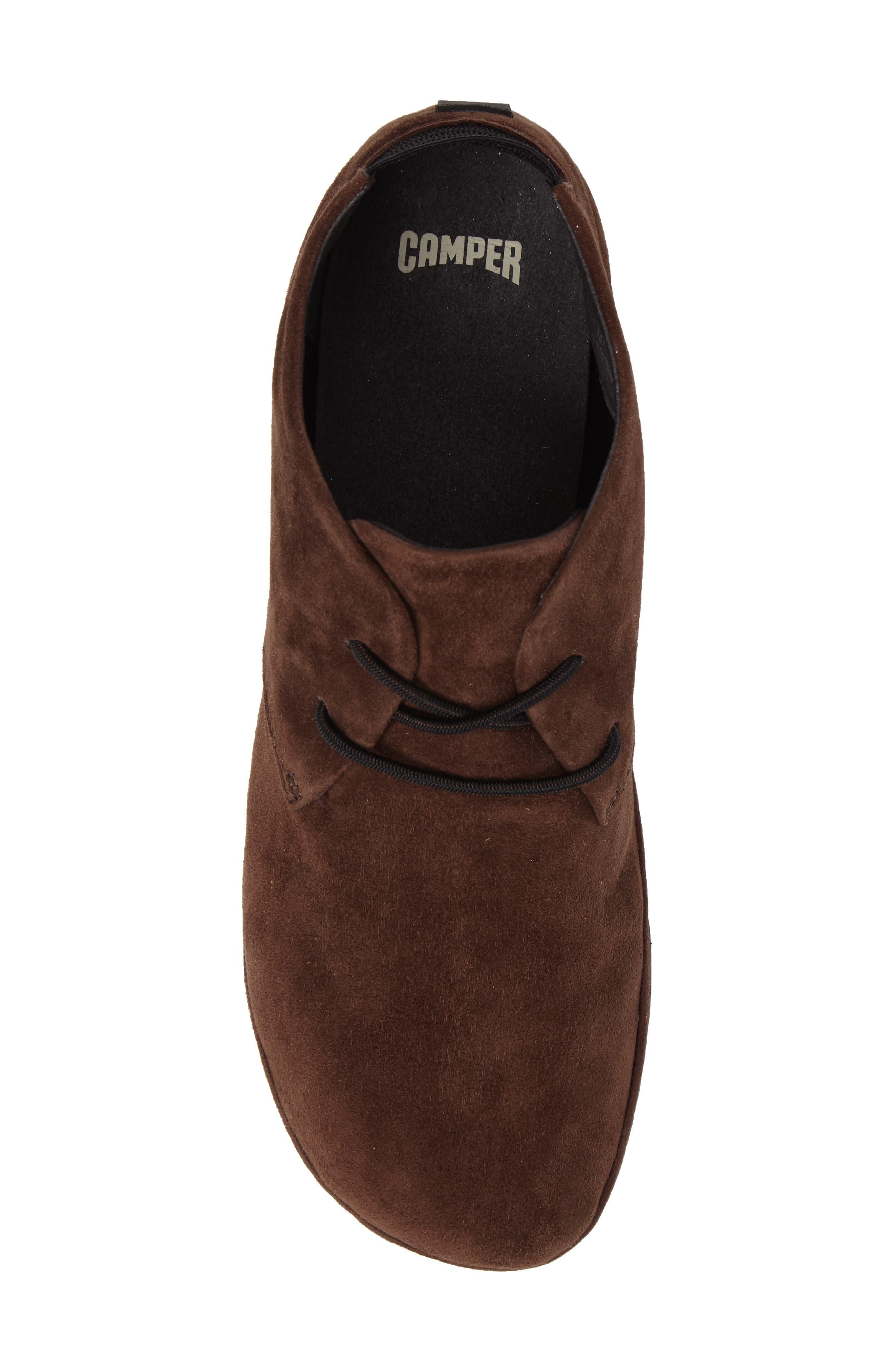 Right Nina Desert Shoe,                             Alternate thumbnail 5, color,                             Medium Brown Leather