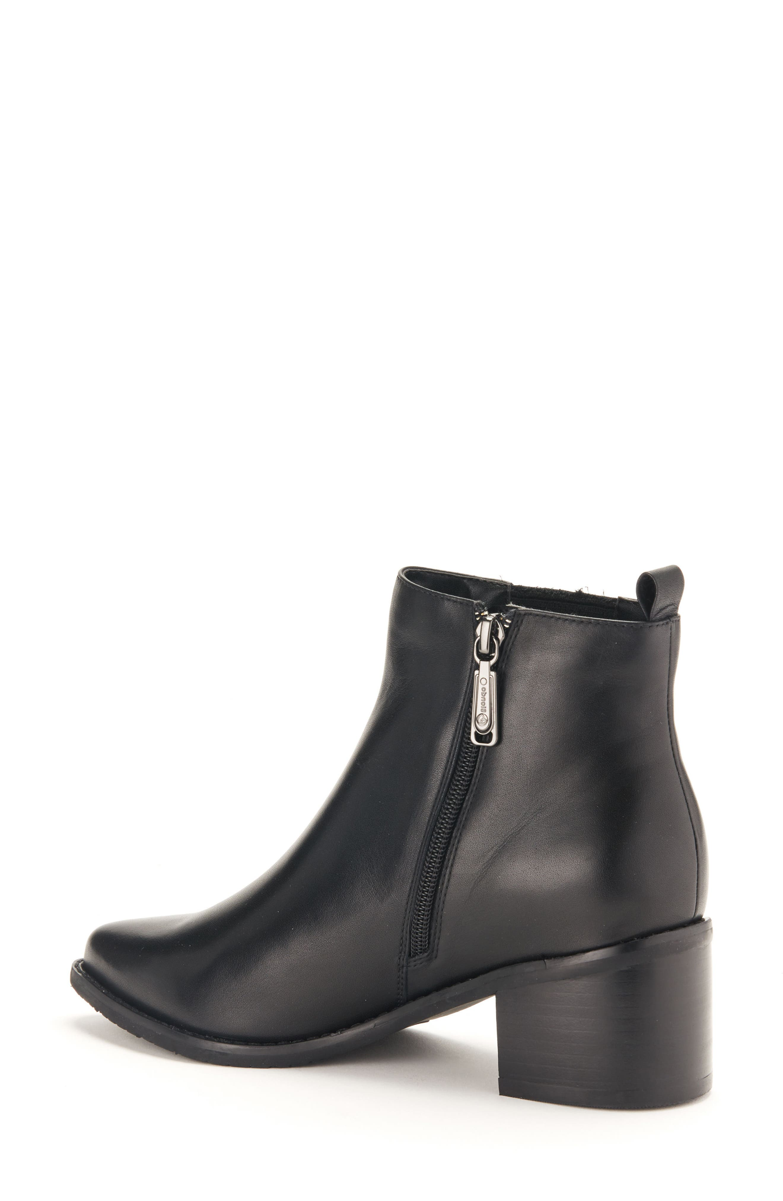 Elvina Waterproof Bootie,                             Alternate thumbnail 2, color,                             Black Leather