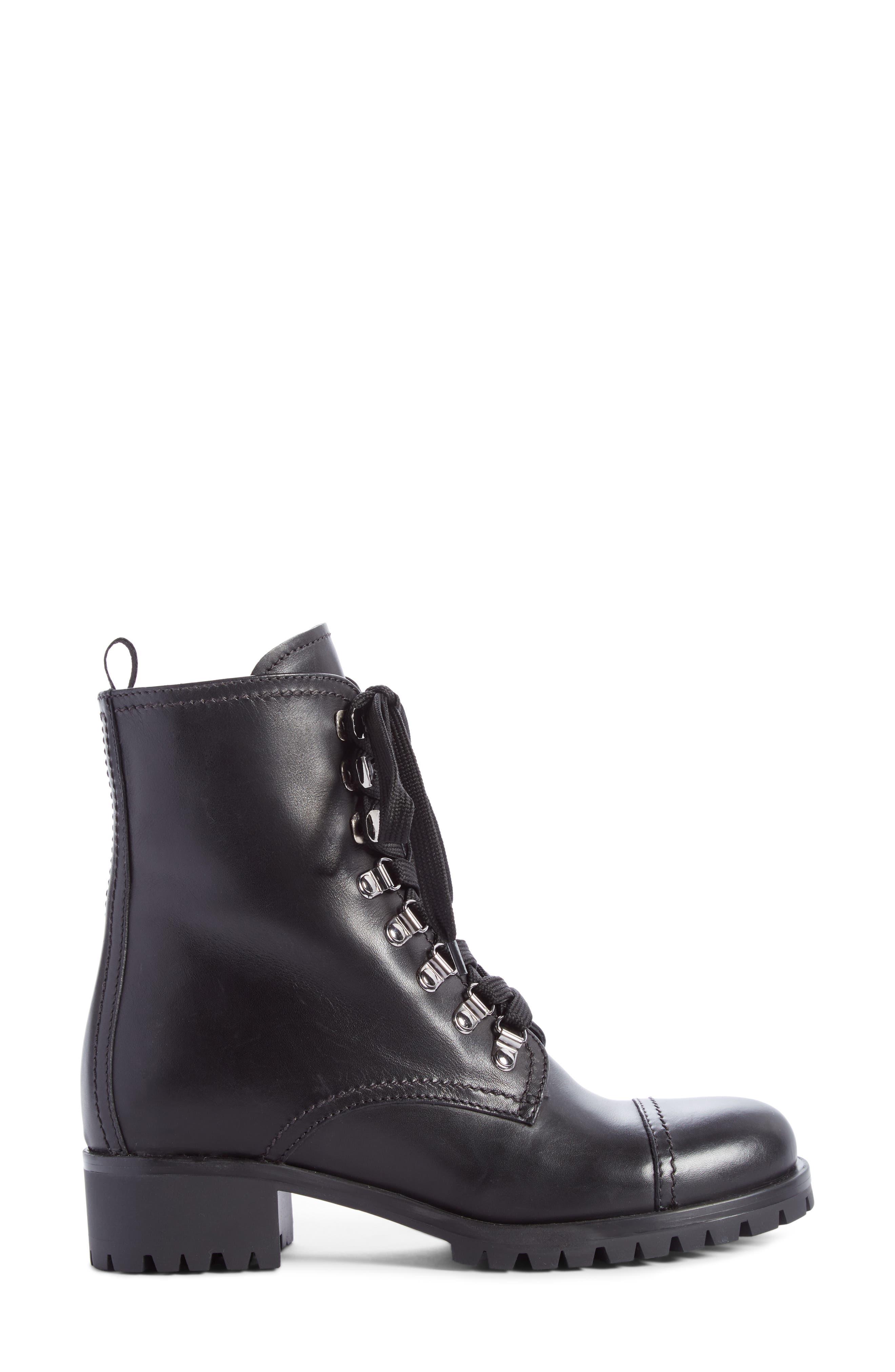 Combat Boot,                             Alternate thumbnail 4, color,                             Black