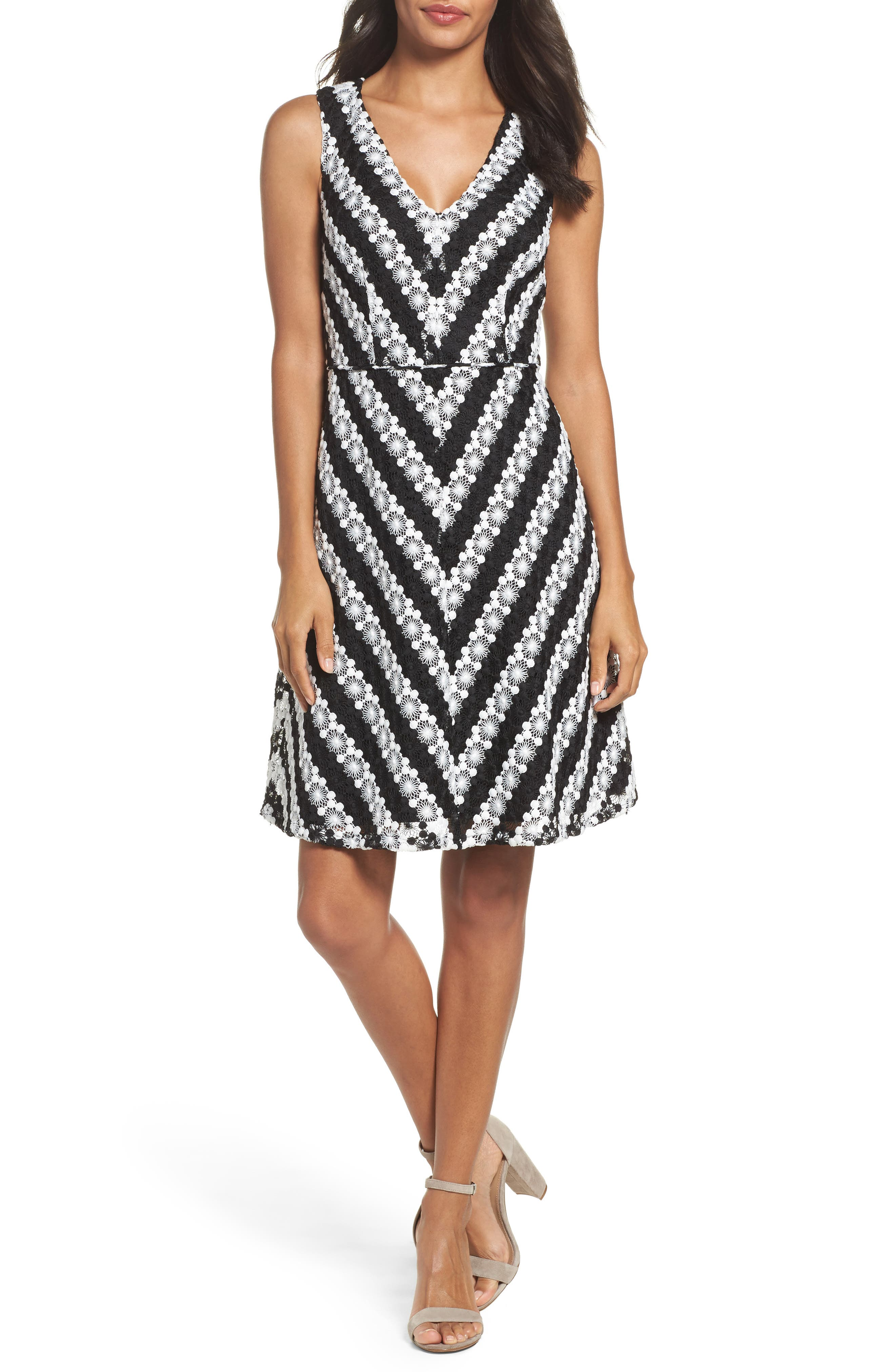 Main Image - Adrianna Papell Fit & Flare Dress (Regular & Petite)