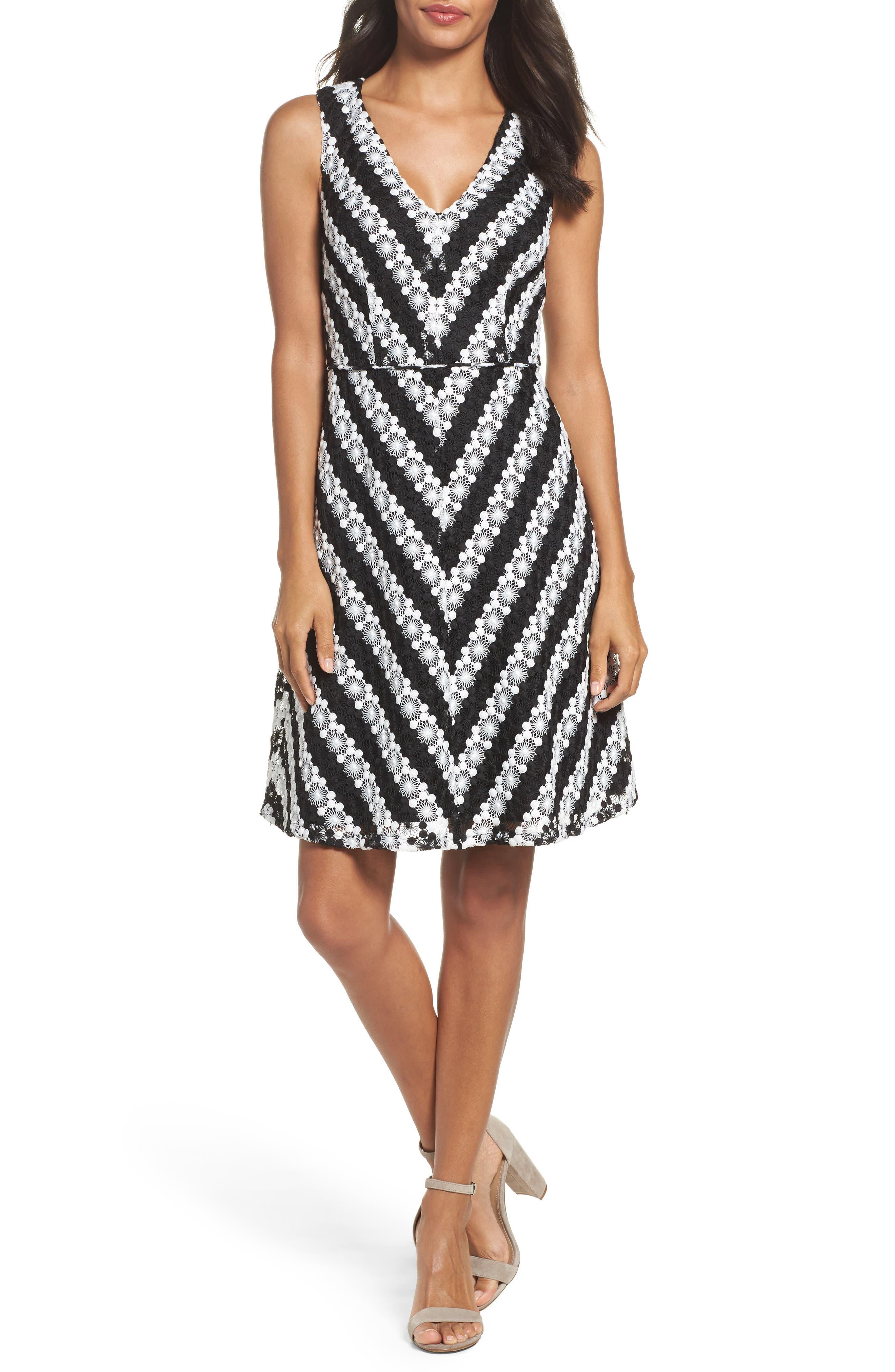 Adrianna Papell Fit & Flare Dress (Regular & Petite)