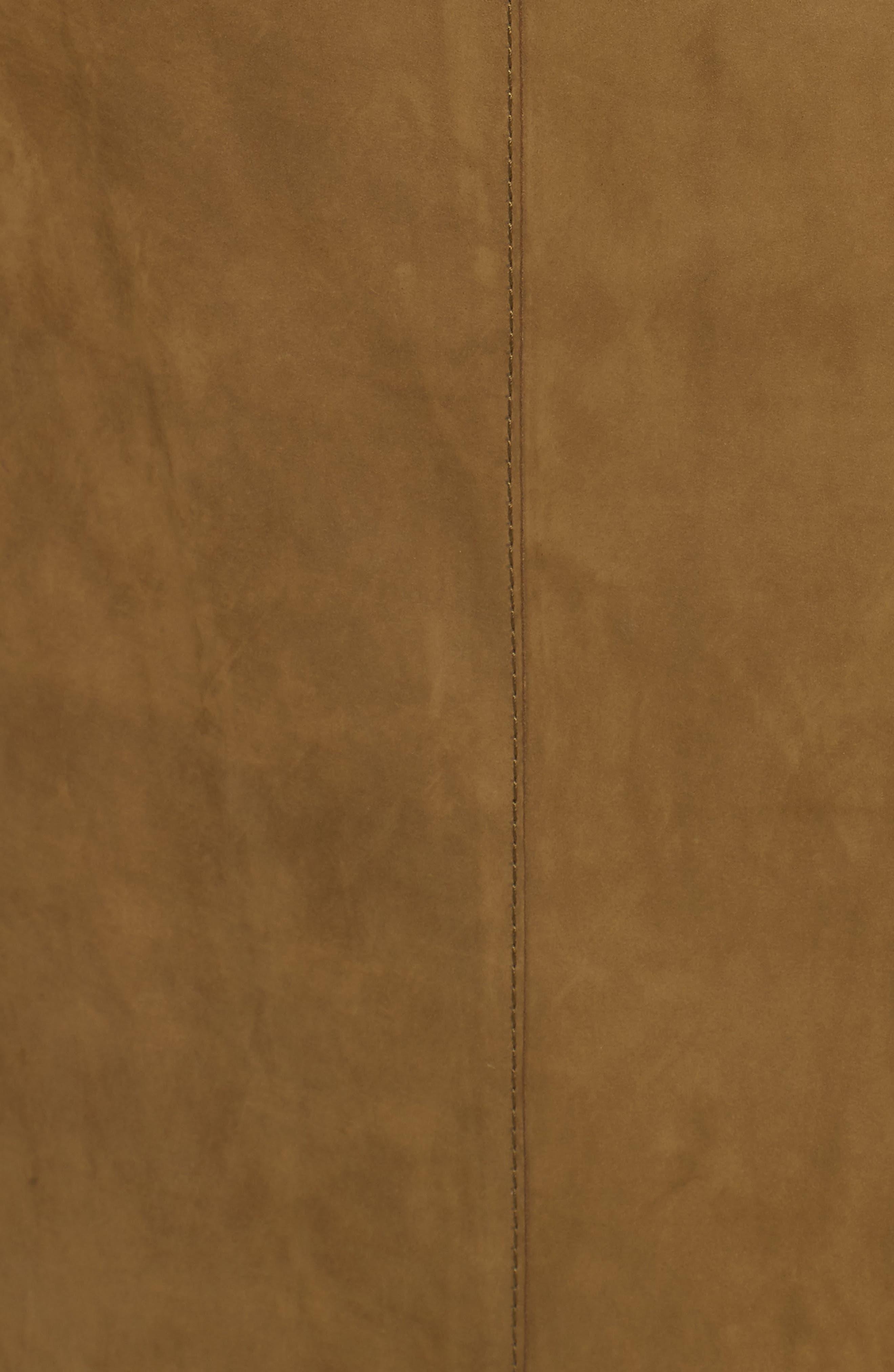 Orla Leather Skirt,                             Alternate thumbnail 3, color,                             Kelp