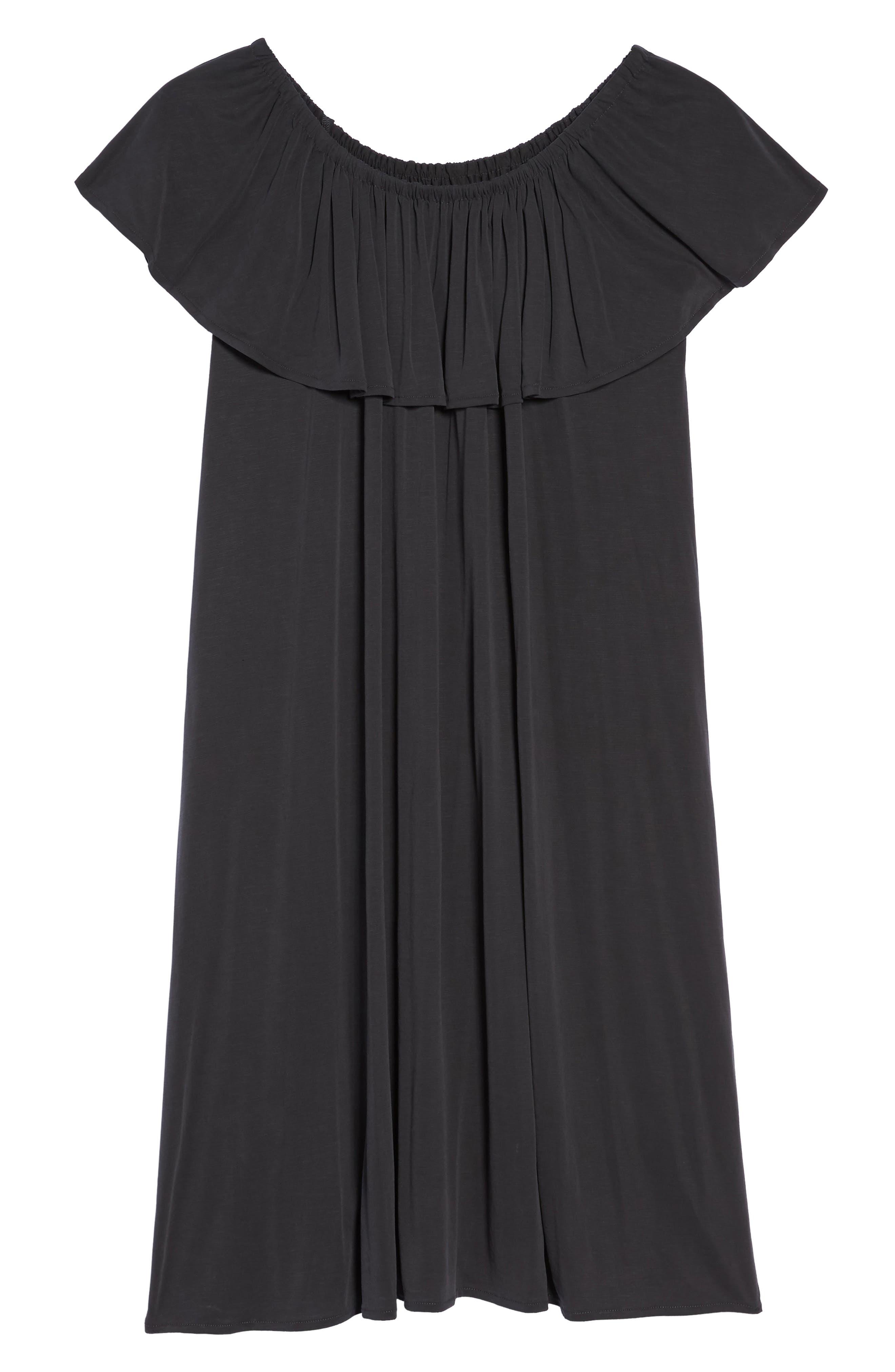 Boardwalk Convertible Jersey Dress,                             Alternate thumbnail 6, color,                             Washed Black