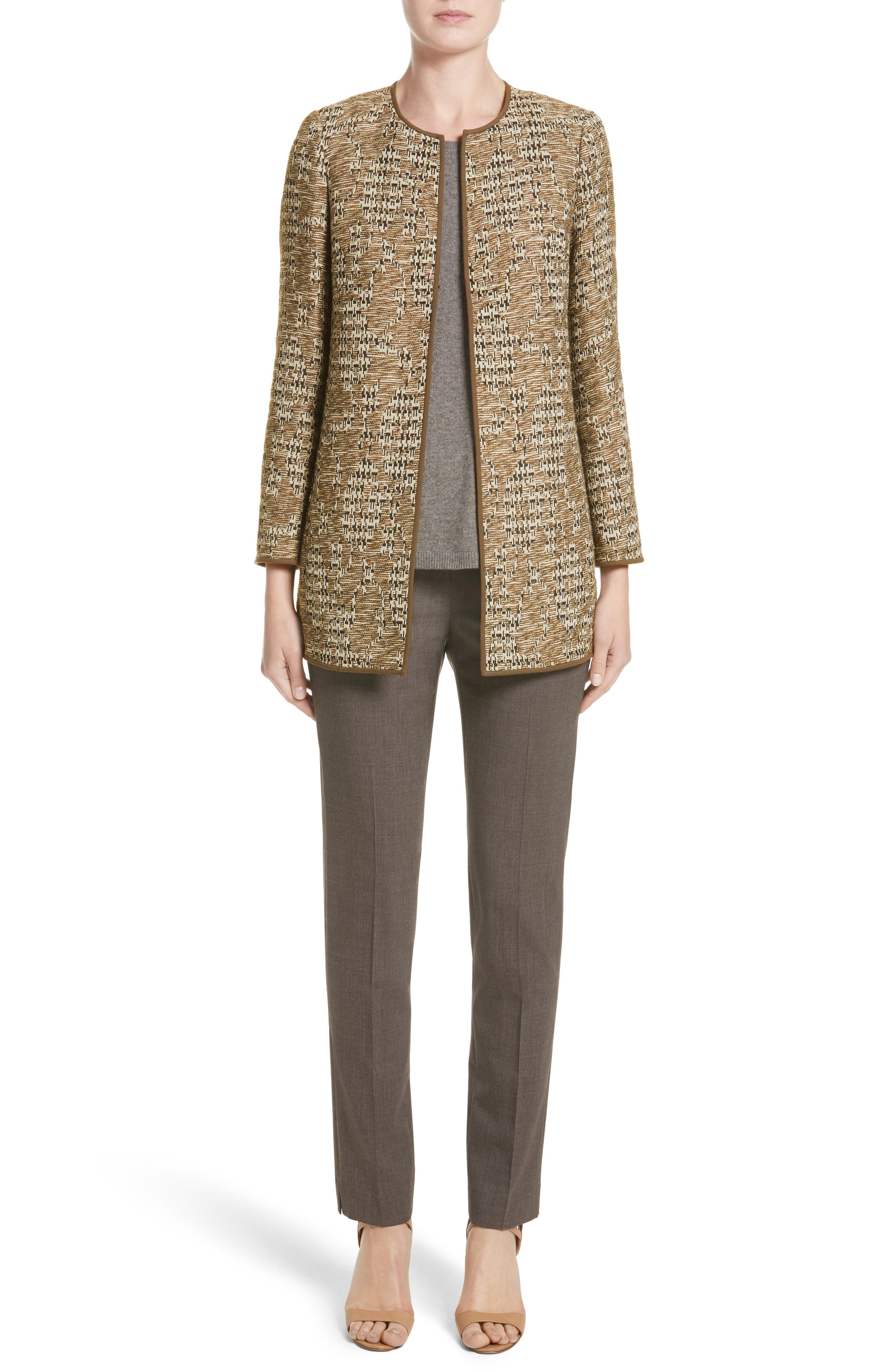 Alternate Image 8  - Lafayette 148 New York Irving Stretch Wool Pants (Nordstrom Exclusive)