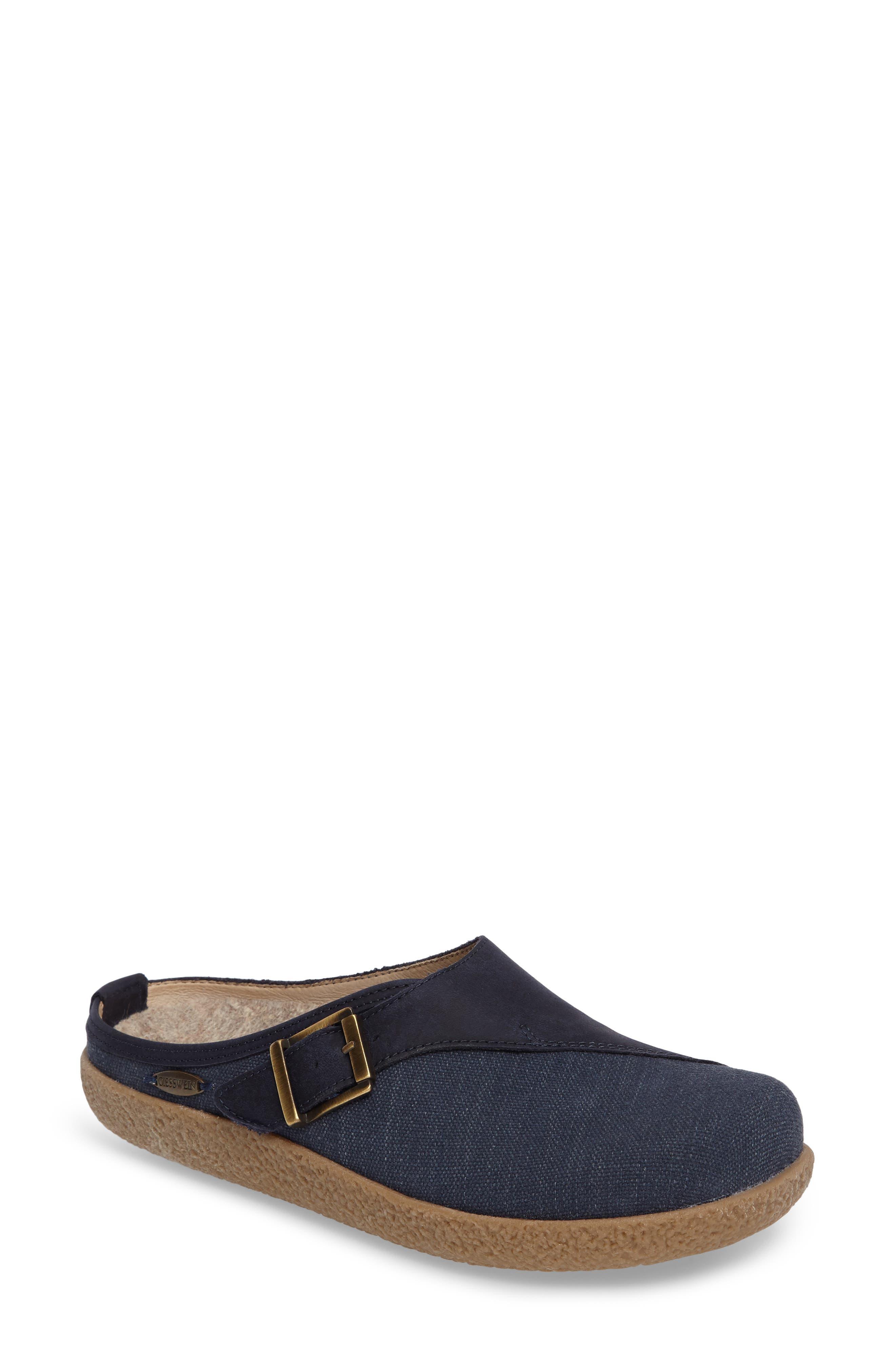 Radler Slipper Mule,                         Main,                         color, Jeans Leather