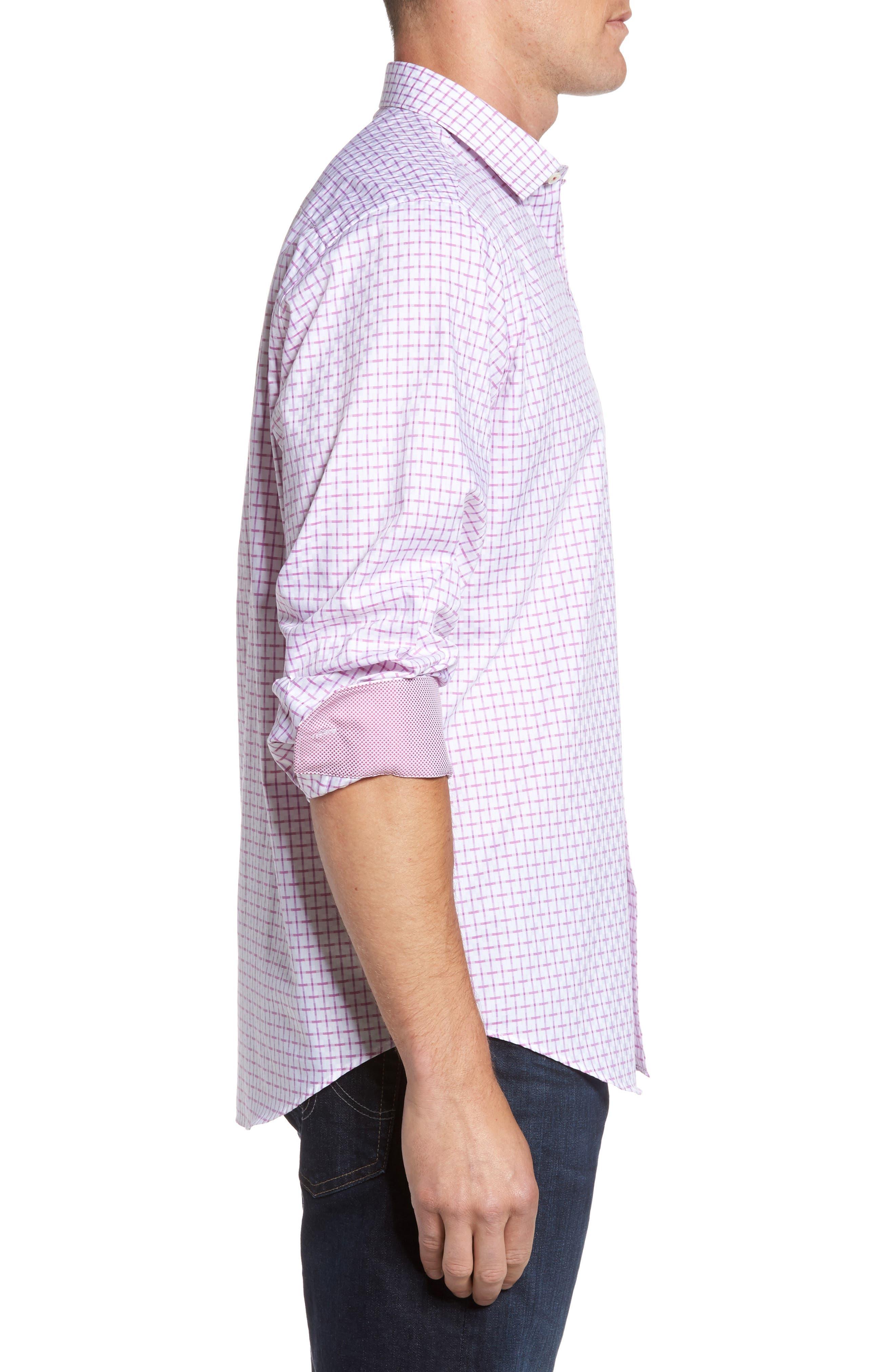 Alternate Image 3  - Bugatchi Classic Fit Graphic Sport Shirt