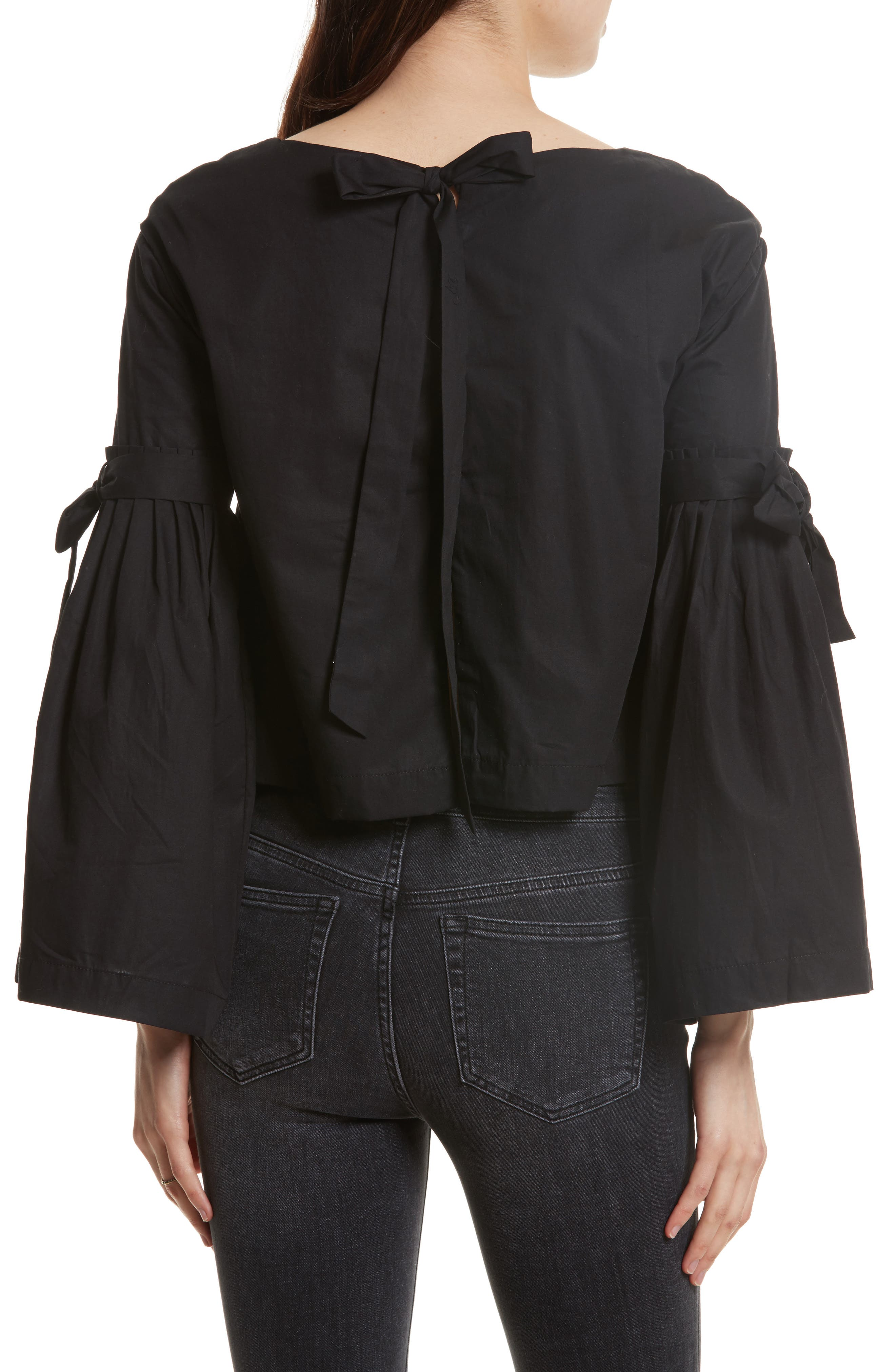 So Obviously Yours Bell Sleeve Top,                             Alternate thumbnail 2, color,                             Black